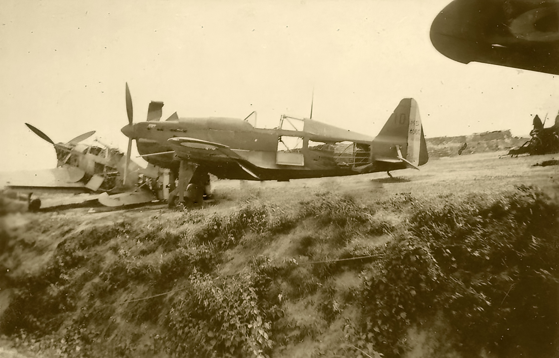 French Airforce Morane Saulnier MS 406C1 Blue 10 grounded at a French airbased left abandoned France 1940 ebay 01