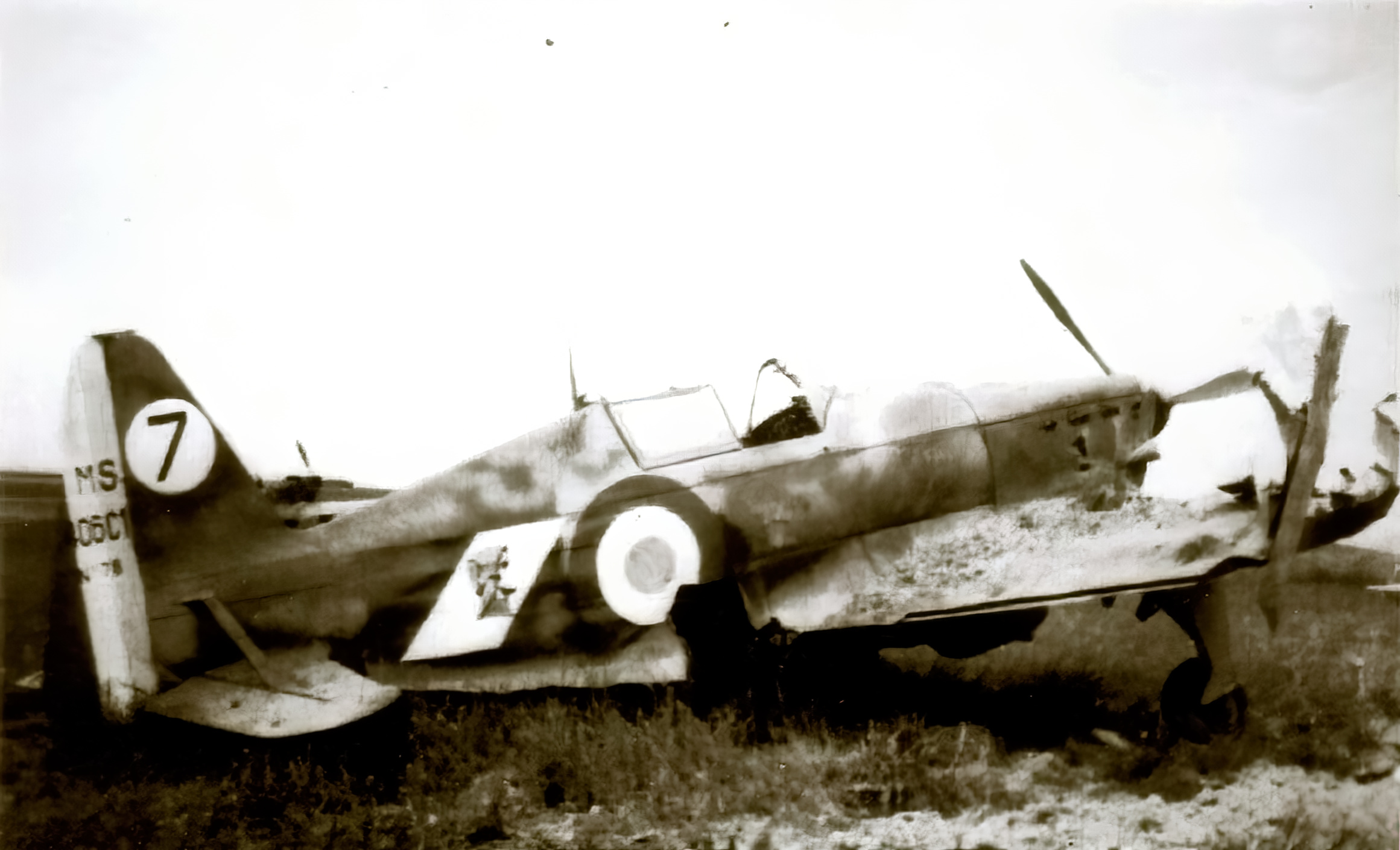 French Airforce Morane Saulnier MS 406C1 Sn78 with damaged right wing France 1940 ebay 03