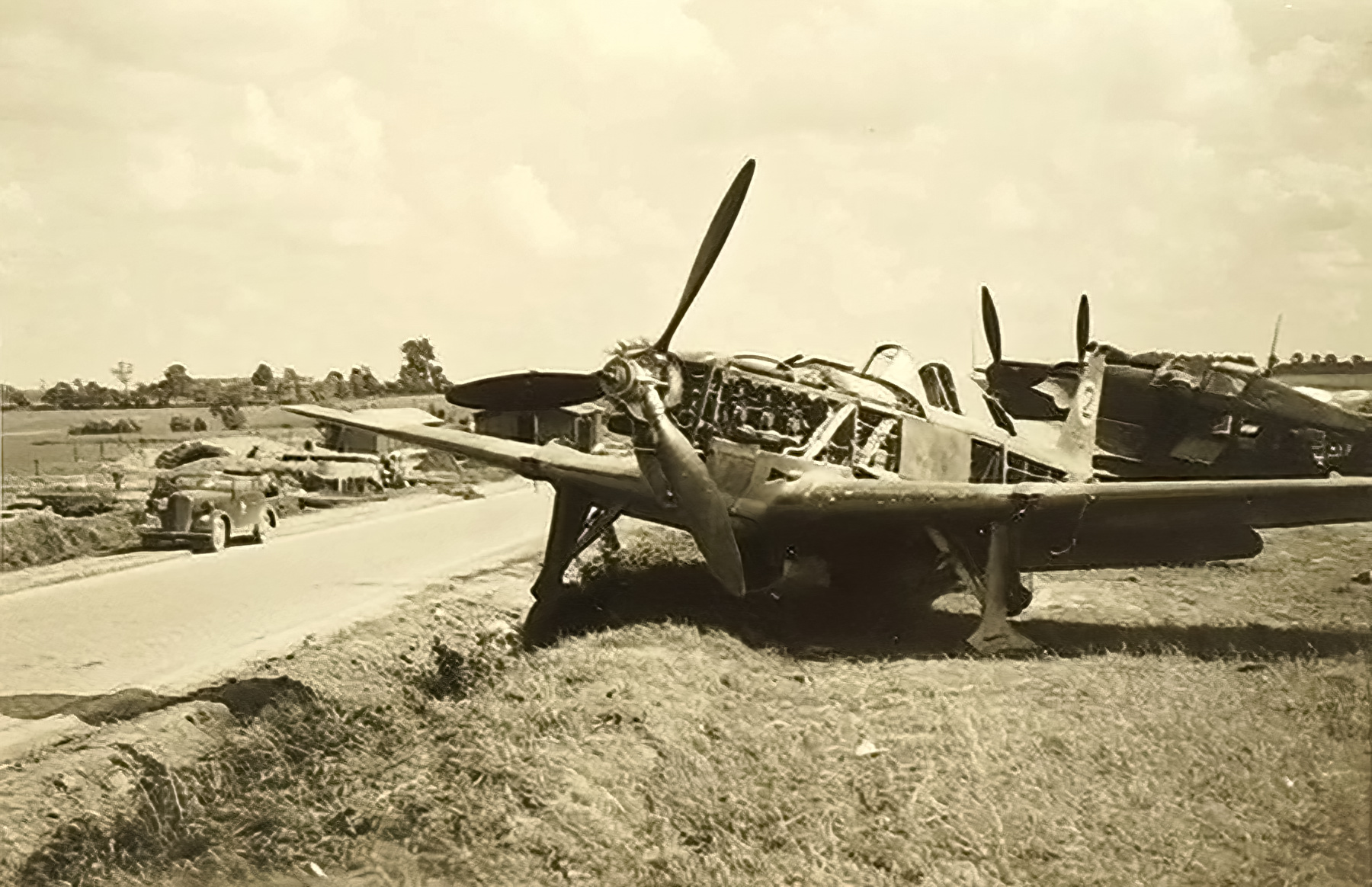 French Airforce Morane Saulnier MS 406C1 grounded at Cambrai airbase France 1940 ebay 01