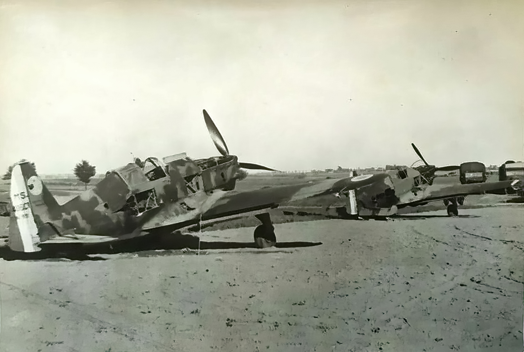 French Airforce Morane Saulnier MS 406C1 grounded at a French airbase France 1940 ebay 01
