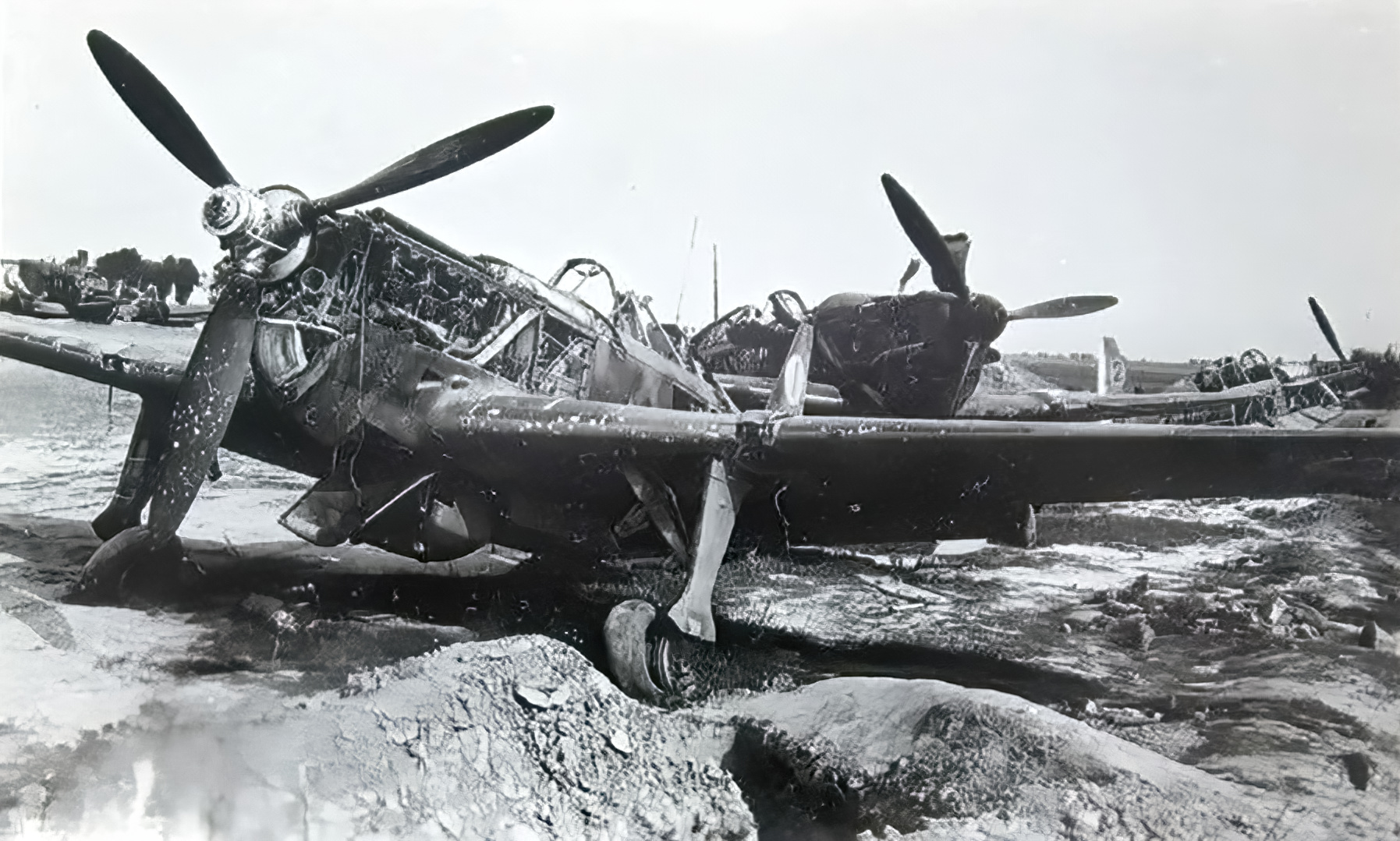 French Airforce Morane Saulnier MS 406C1 grounded at a French airbase France 1940 ebay 02
