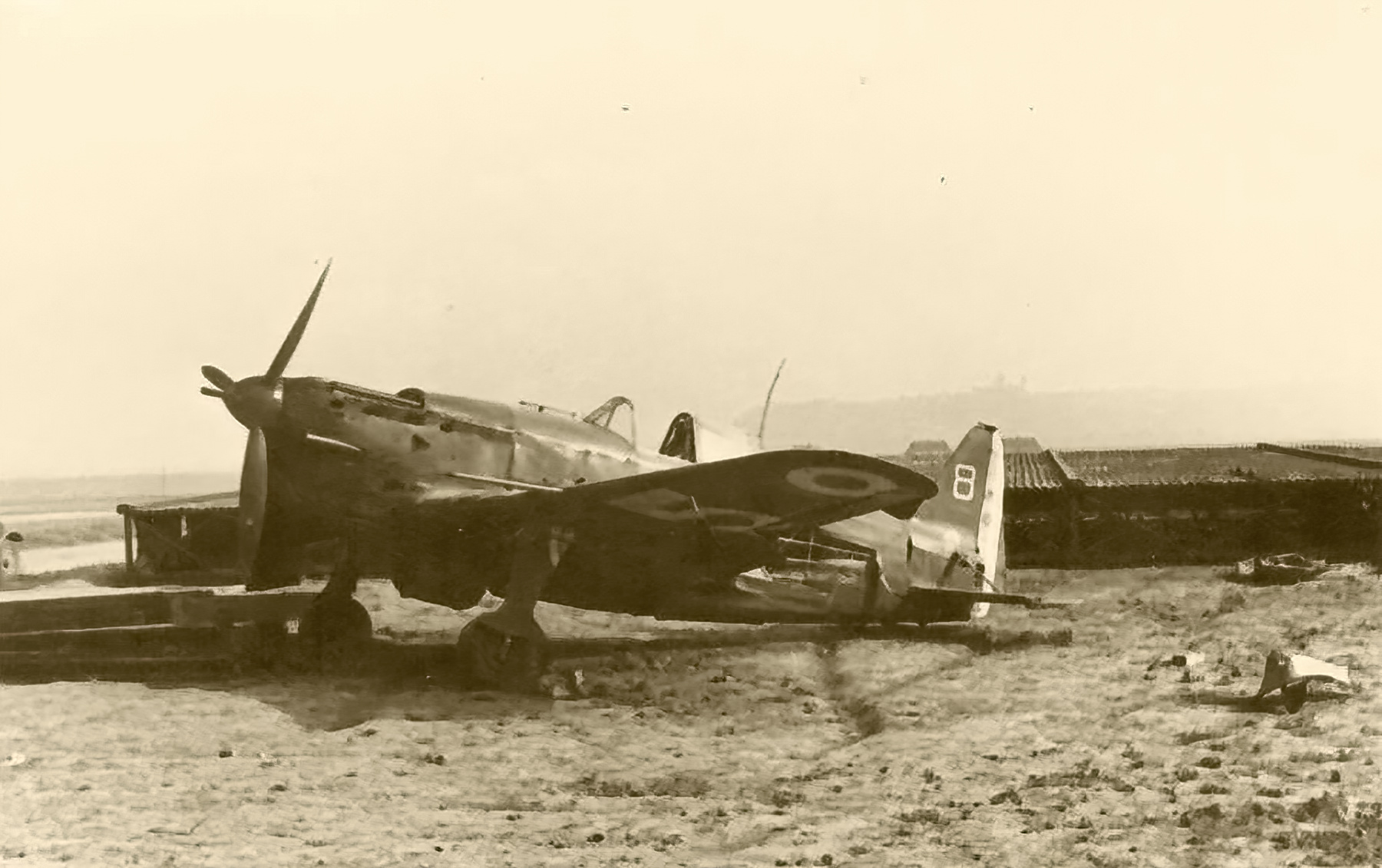 French Airforce Morane Saulnier MS 406C1 grounded at a French airbase France 1940 ebay 03