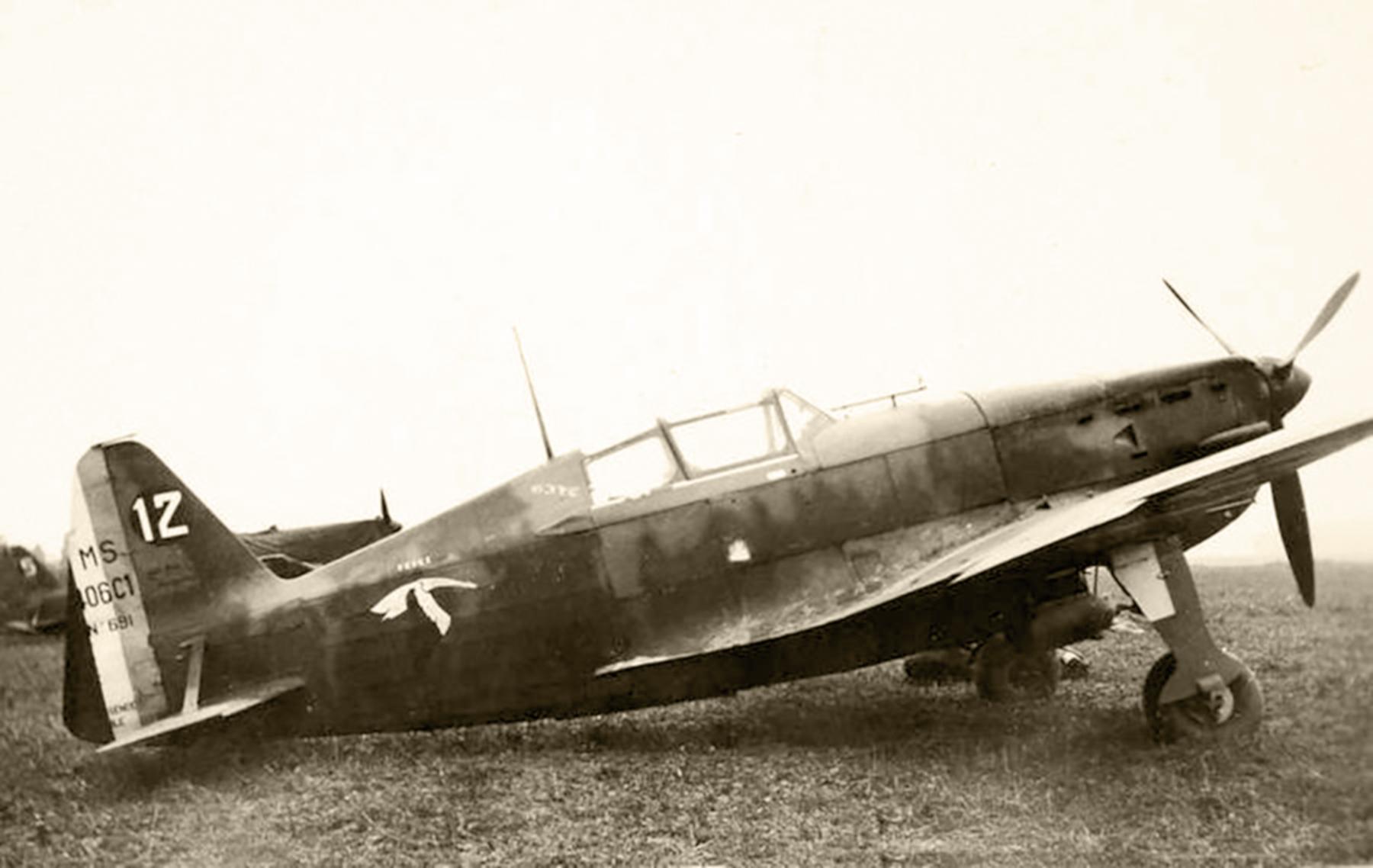 French Airforce Morane Saulnier MS 406C1 sn691 GC I.2 White 12 France 1940 web 01