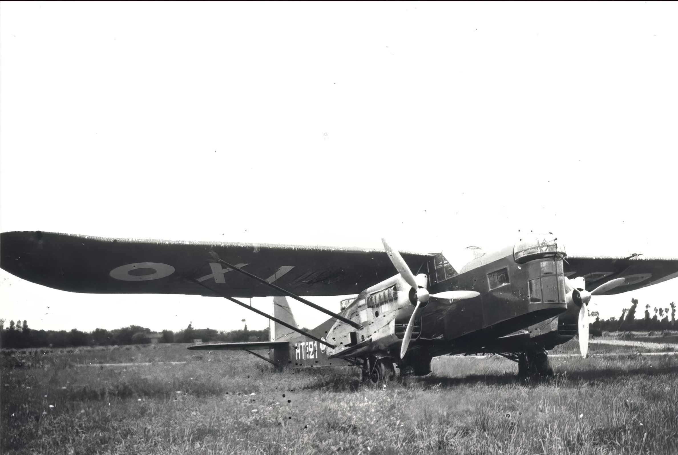 French Airforce Potez 540 HT121 at a French airbase France ebay 01