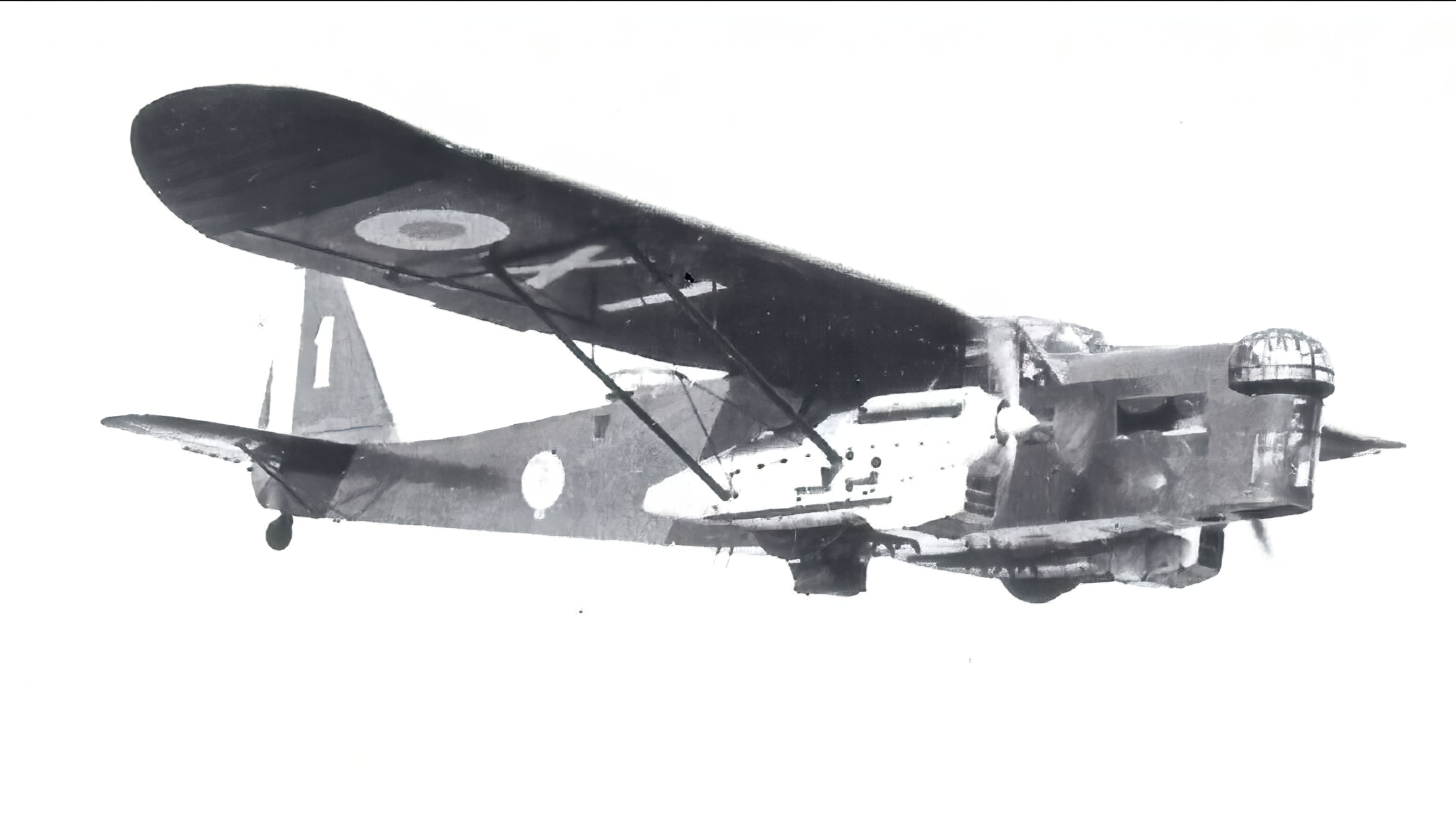 French Airforce Potez 540 White 1 airborne over France ebay 01