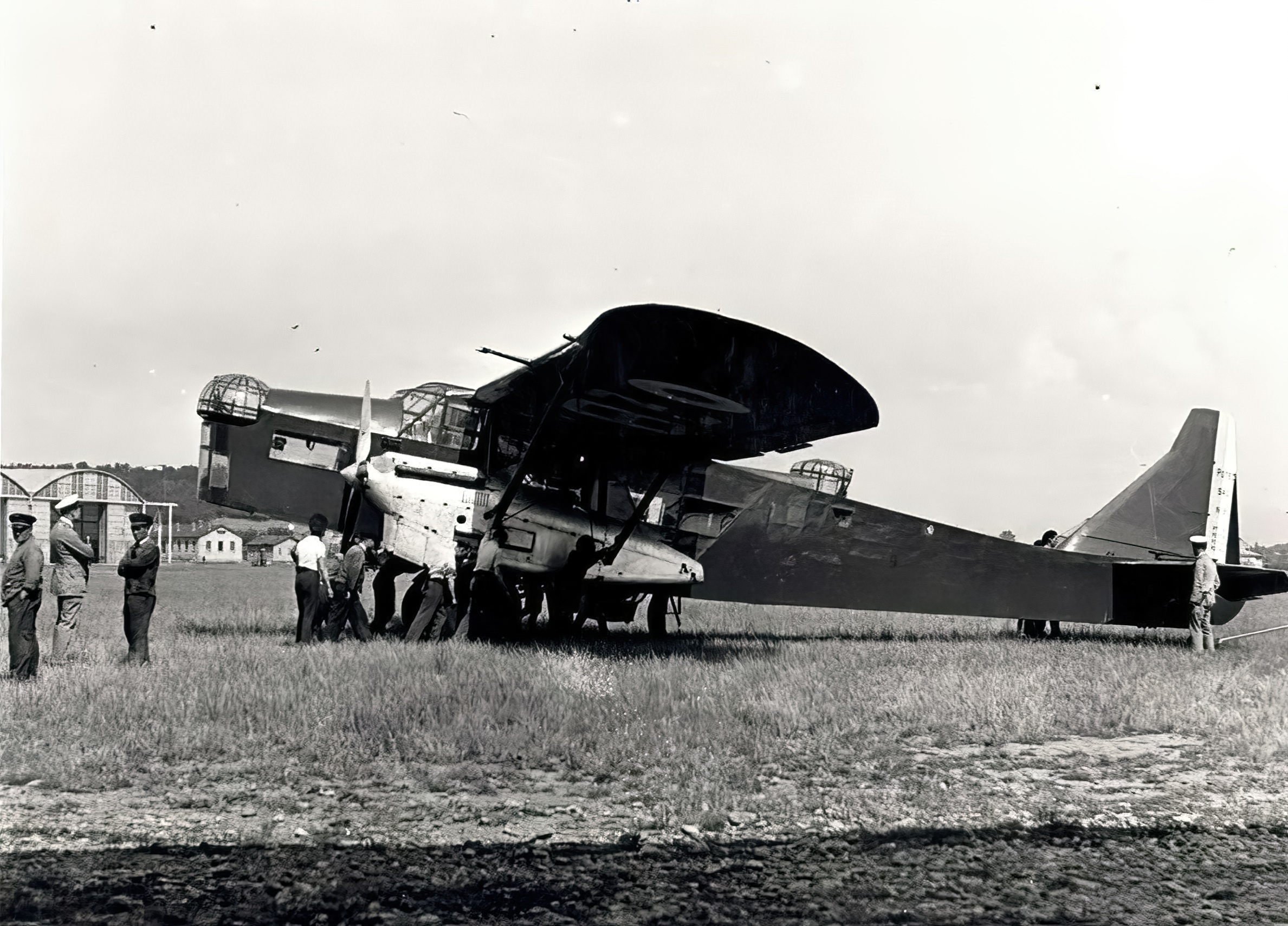 French Airforce Potez 540 being refueled at a French airbase France ebay 04