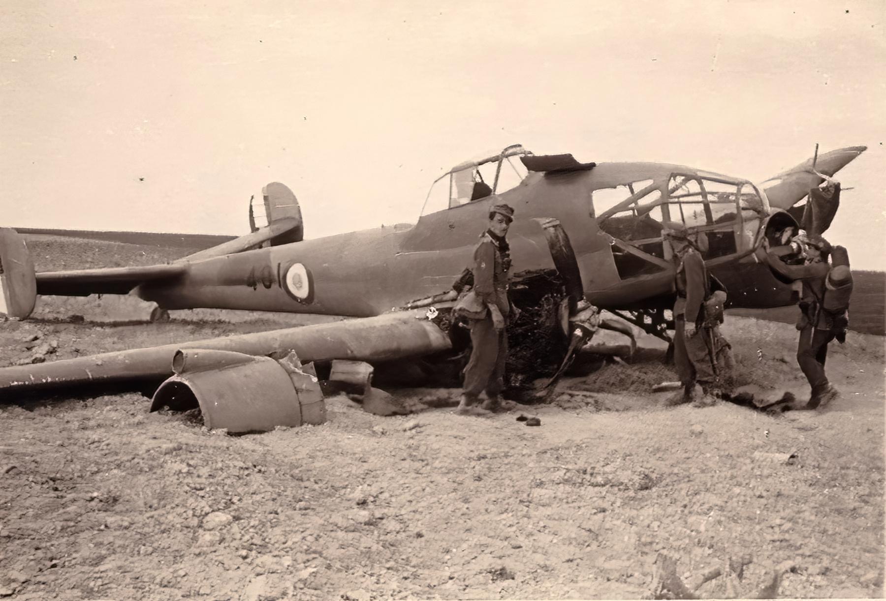 French Airforce Potez 63.11 Black 401 captured after force landing France 1940 ebay 01