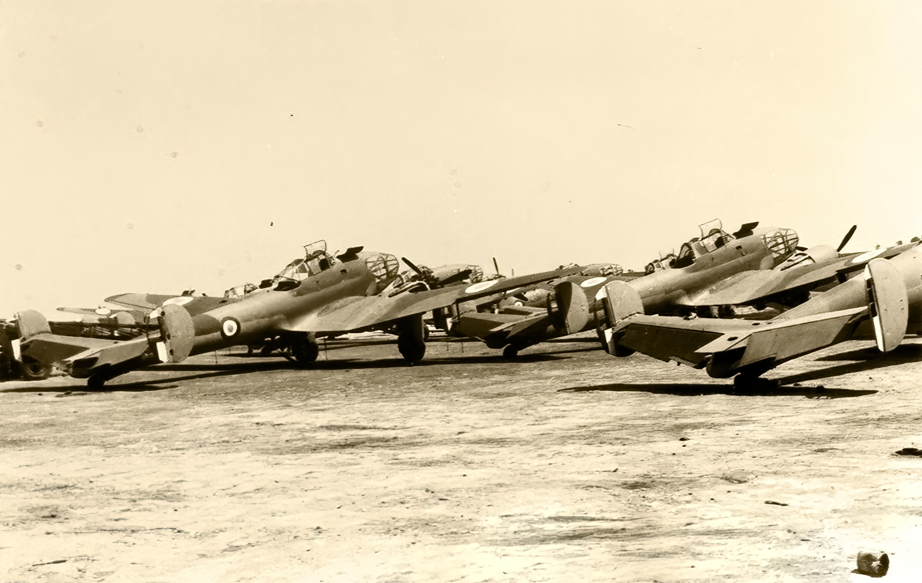 French Airforce Potez 63.11 await thier fate after Frances capitulation 25th June 1940 ebay 01