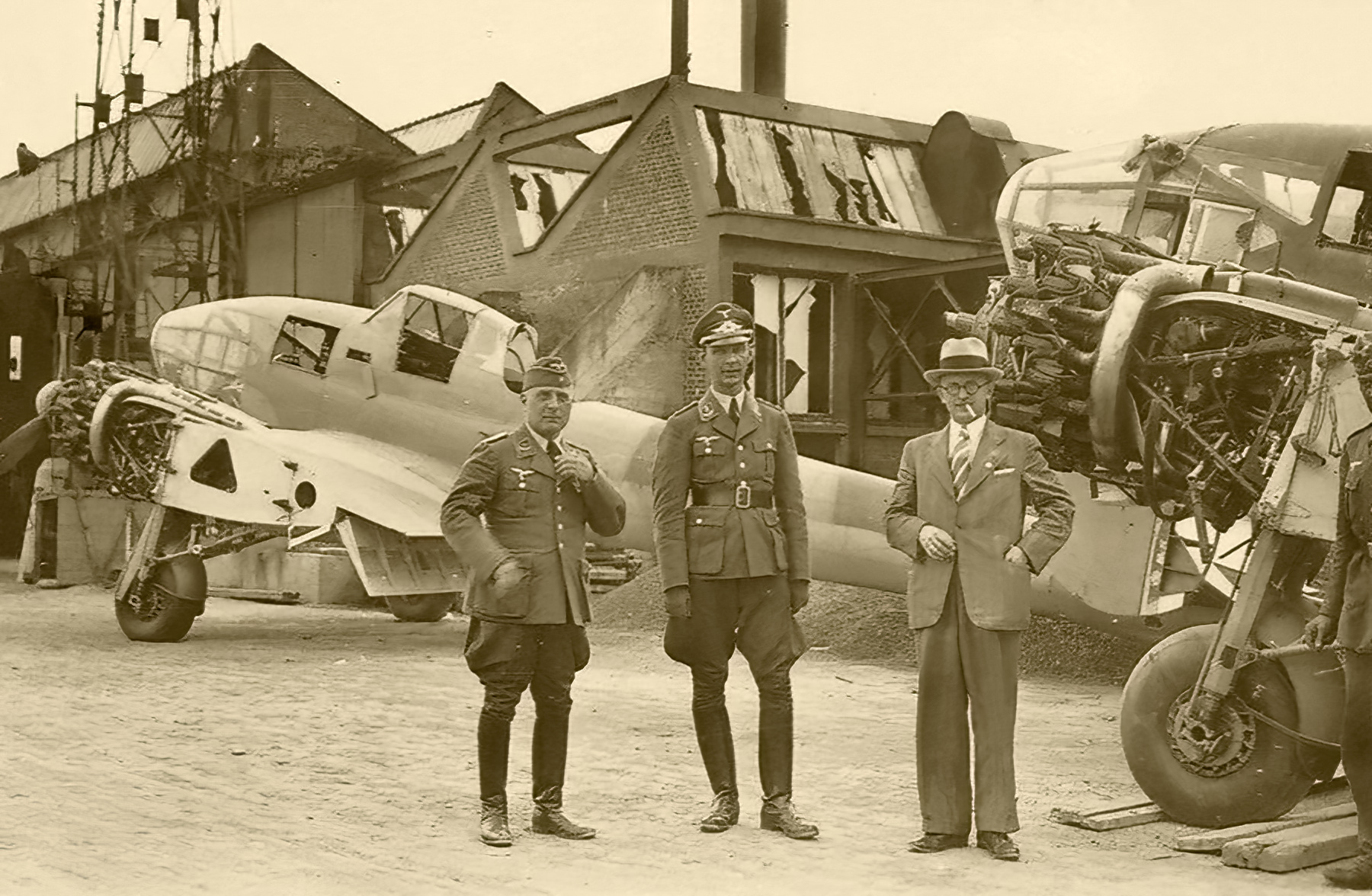 French Airforce Potez 63.11 being examined by Luftwaffe personel France 1940 ebay 01