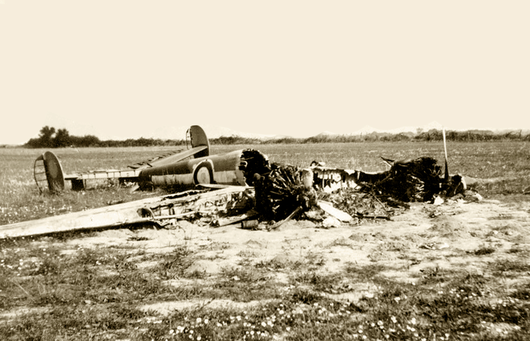 French Airforce Potez 63.11 destroyed after force landing France May Jun 1940 ebay 01