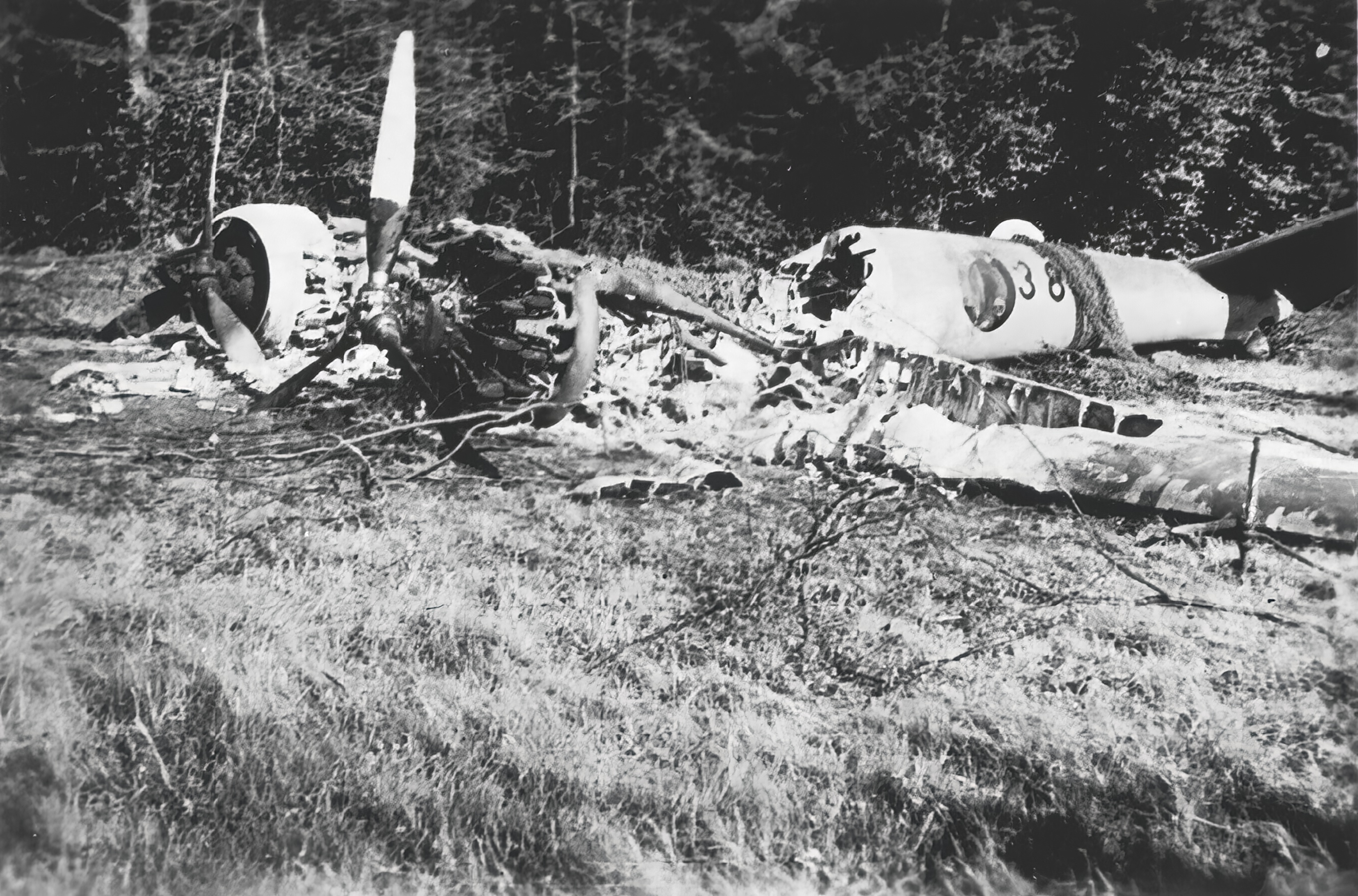 French Airforce Potez 63.11 destroyed on the ground May 1940 NIOD