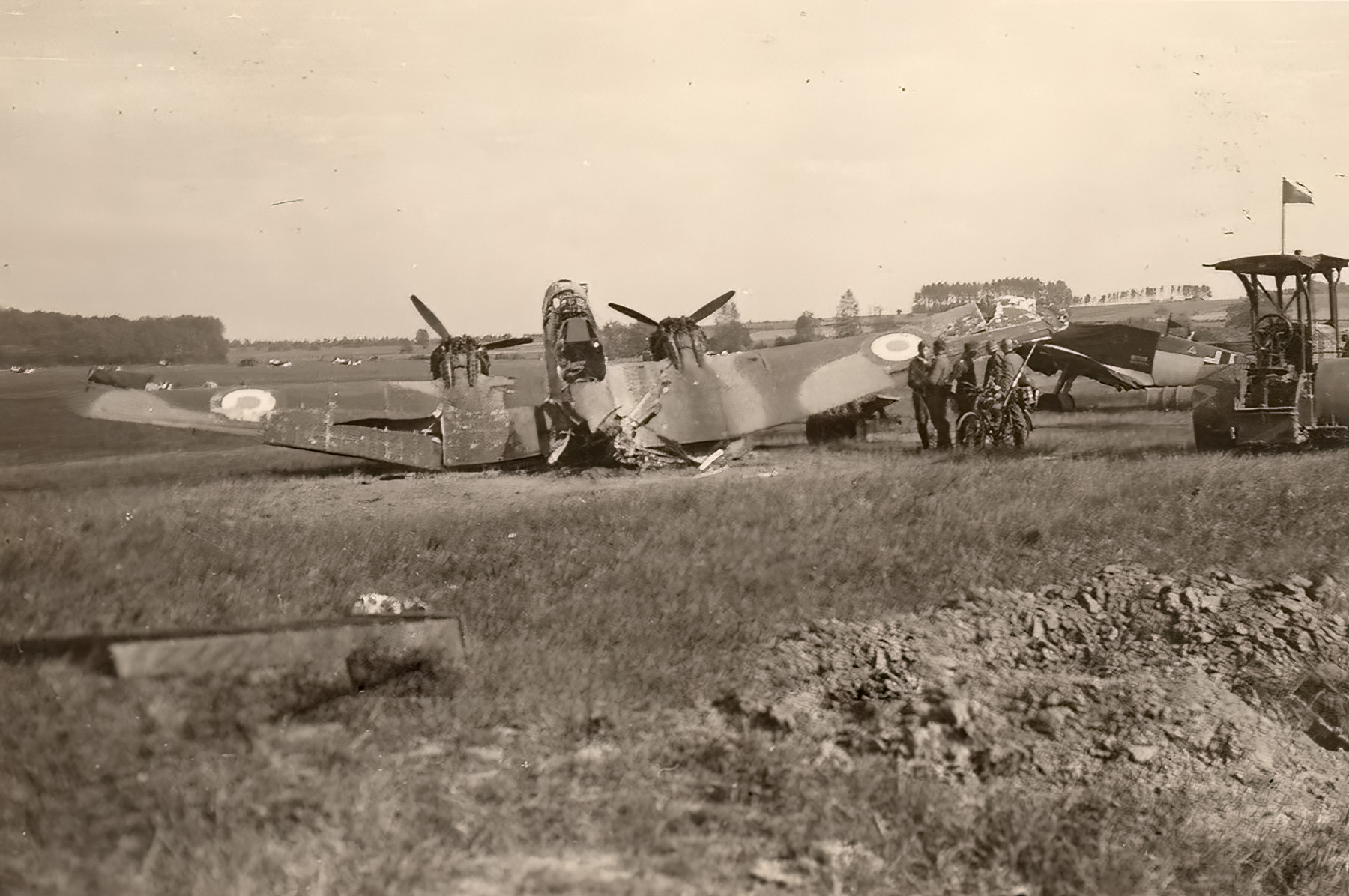 French Airforce Potez 63.11 destroyed whilst grounded France May Jun 1940 ebay 01