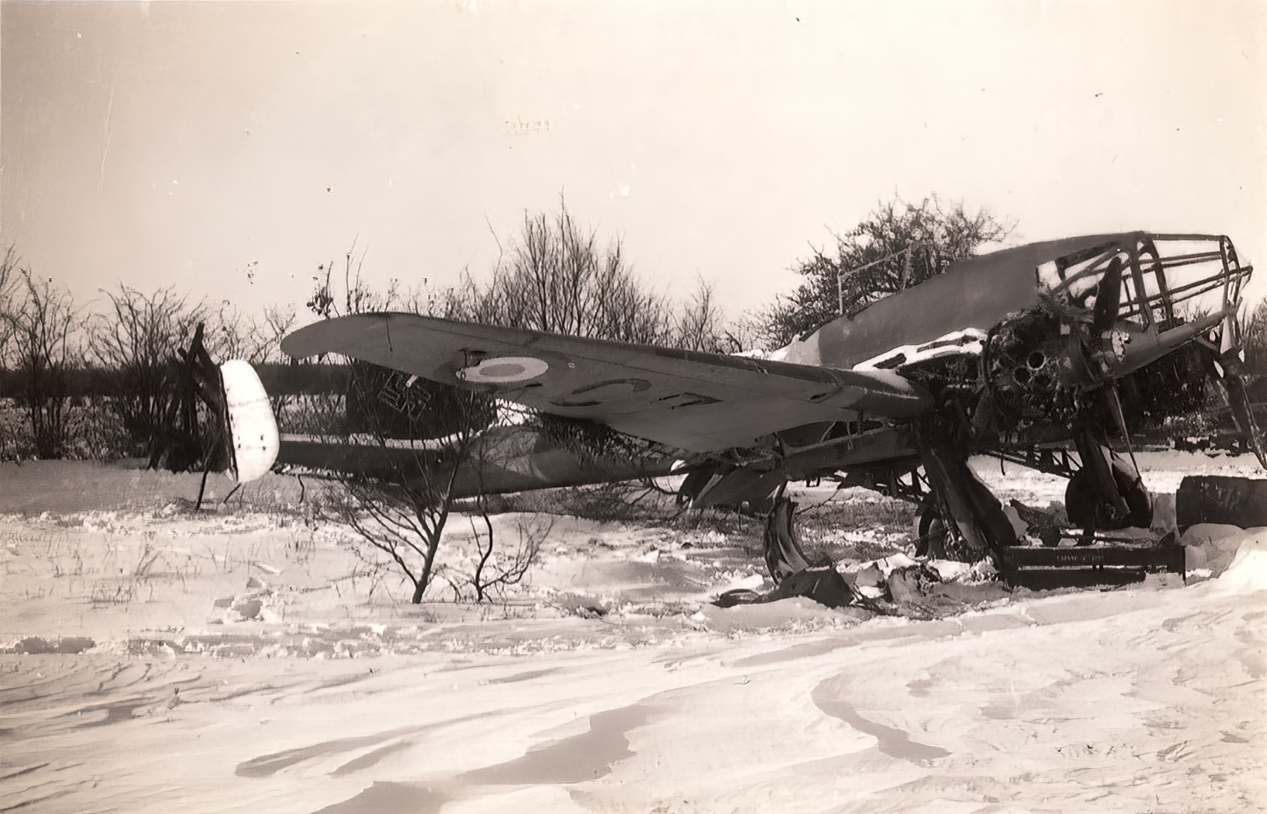 French Airforce Potez 63.11 destroyed whilst on the ground France May Jun 1940 ebay 01