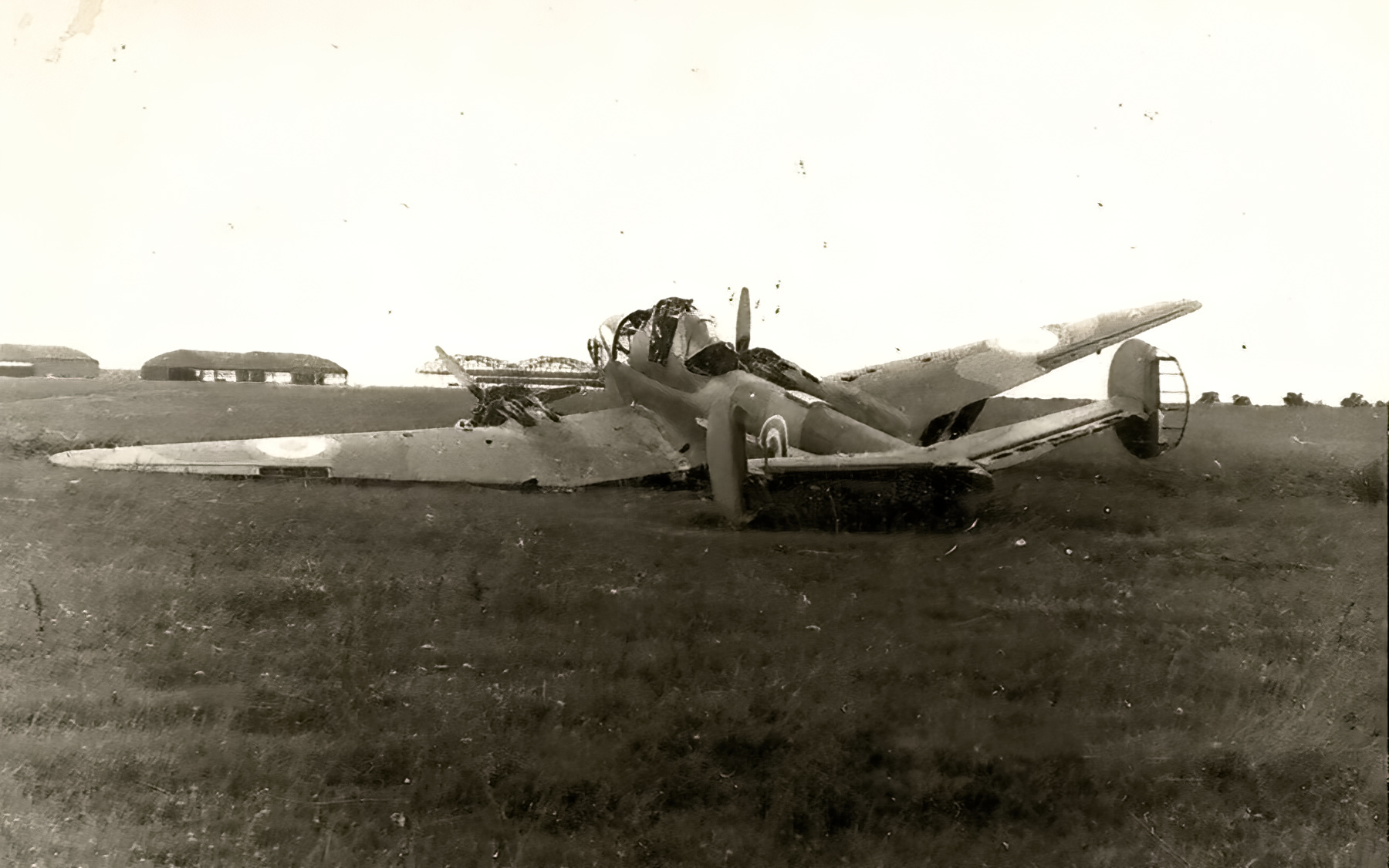 French Airforce Potez 63.11 destroyed whilst on the ground France May Jun 1940 ebay 02