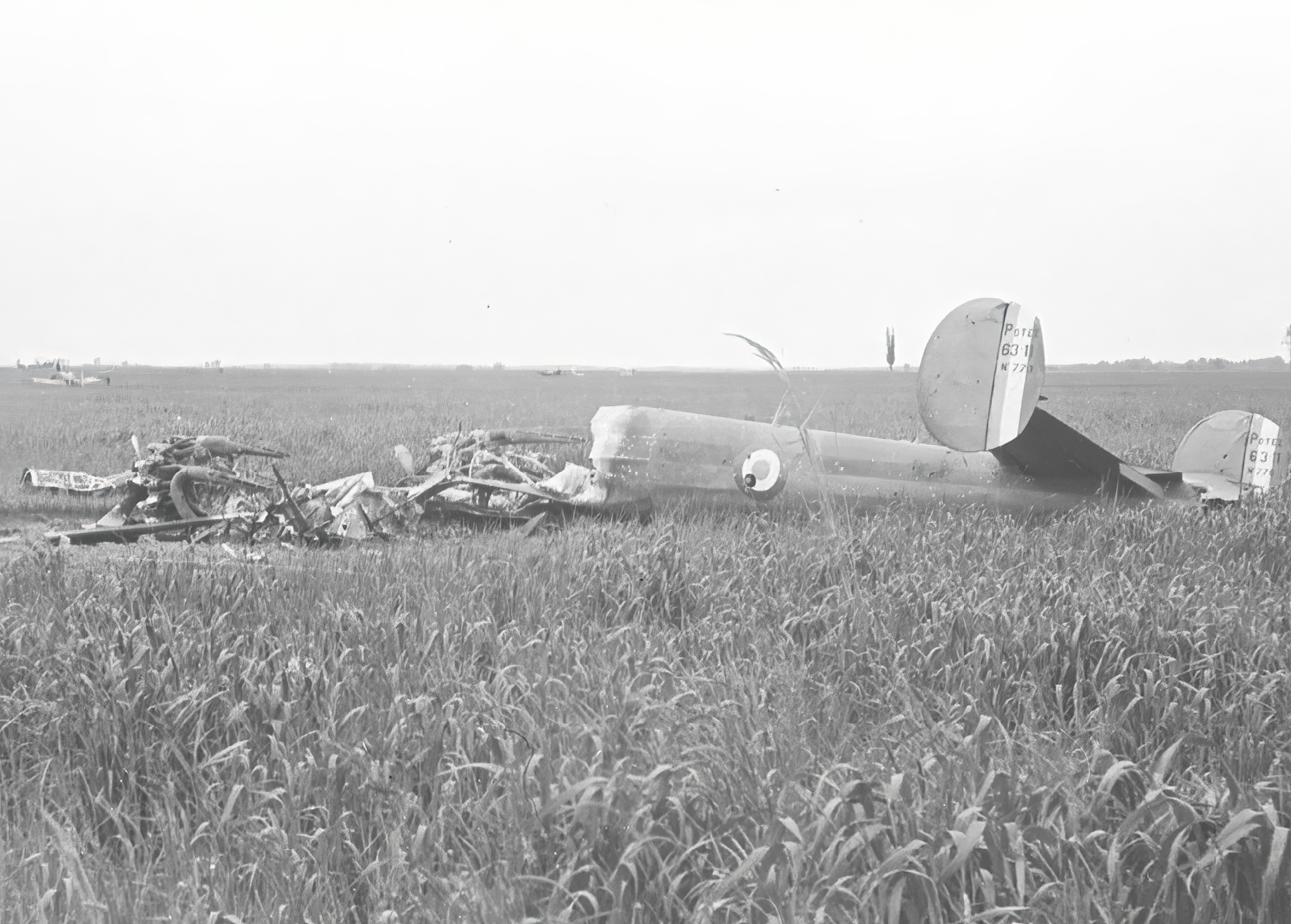 French Airforce Potez 63.11 sn776 destroyed near Coulonniers east of Paris 11th May 1940 NIOD