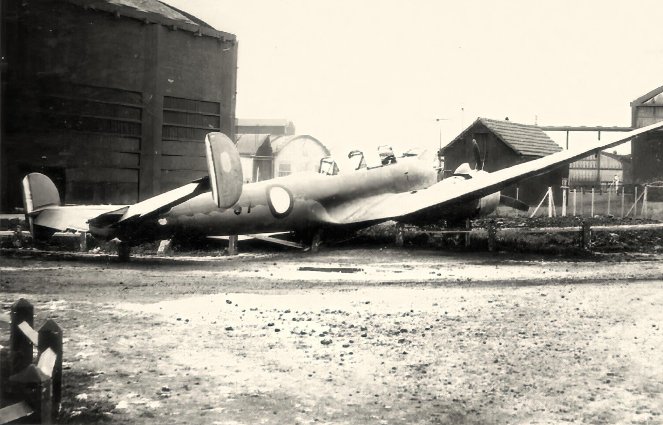 French Airforce Potez 630 Black 57 abandoned battle of France 1940 ebay 01
