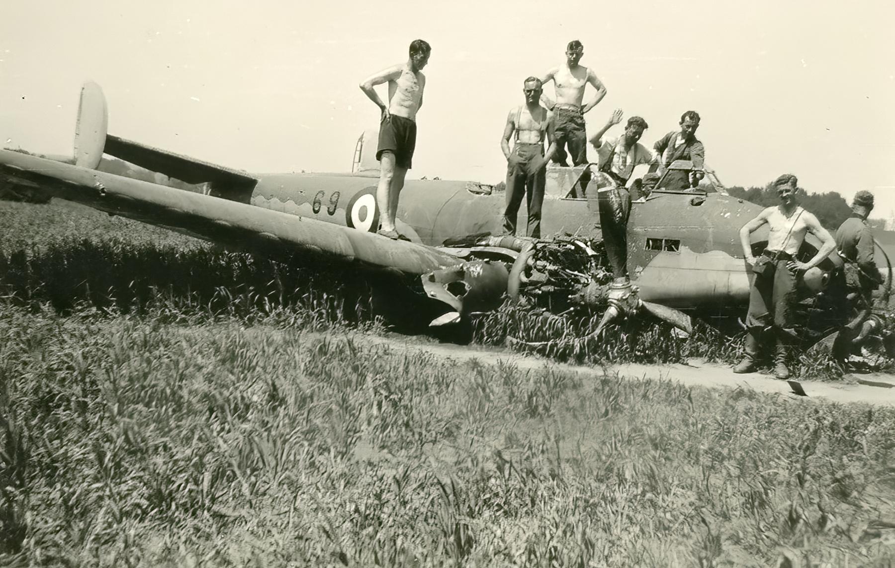 French Airforce Potez 630 Black 69 force landed battle of France May Jun 1940 ebay 01
