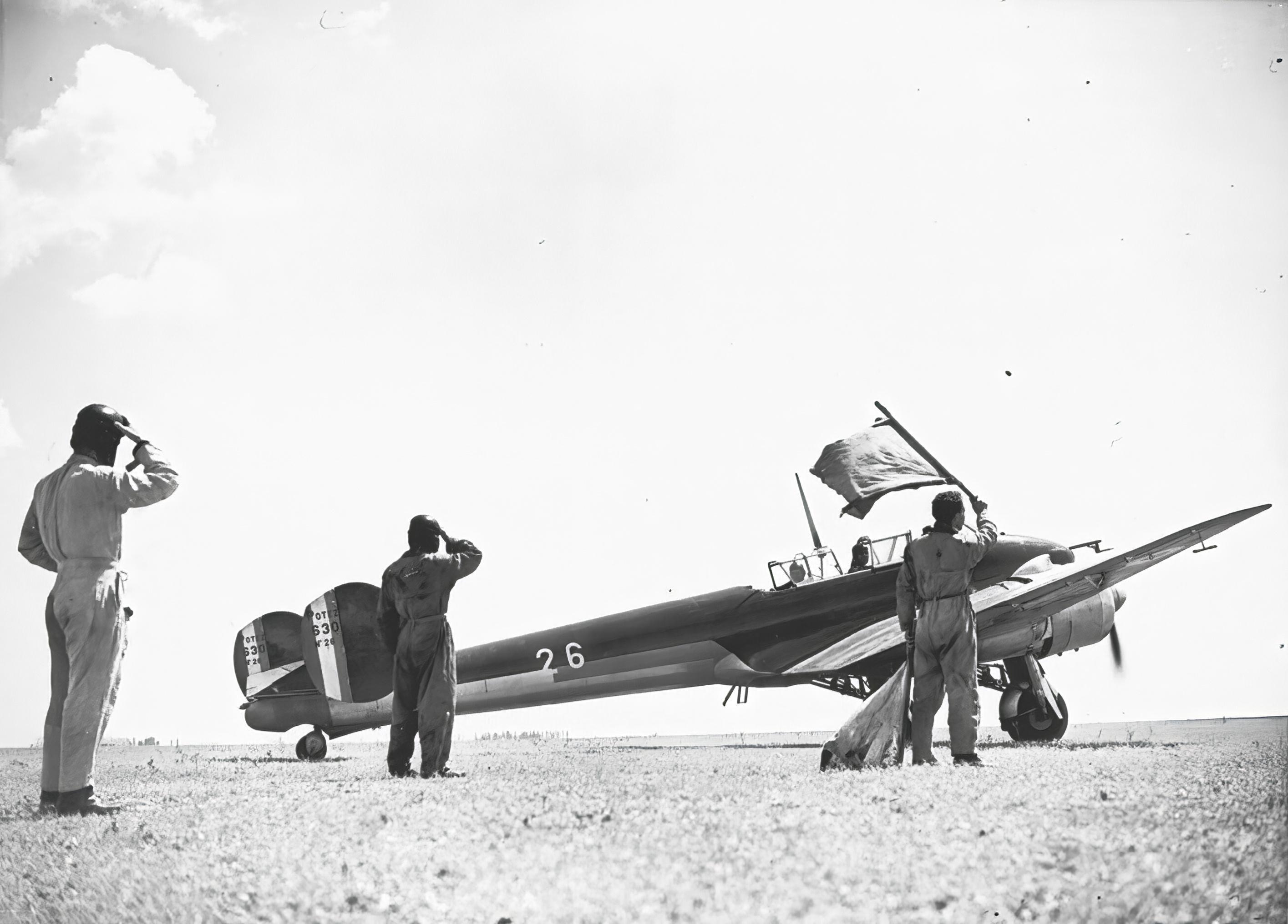 French Airforce Potez 630 White 26 No26 prior to take off NIOD