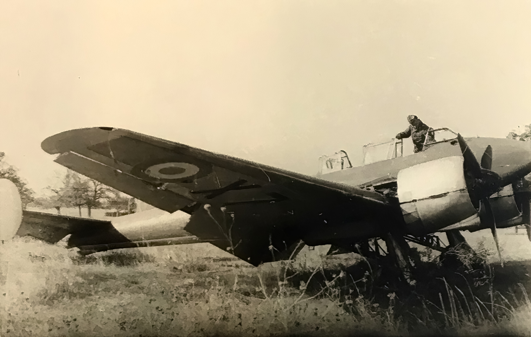 French Airforce Potez 630 sits abandoned after the fall of France June 1940 ebay 01