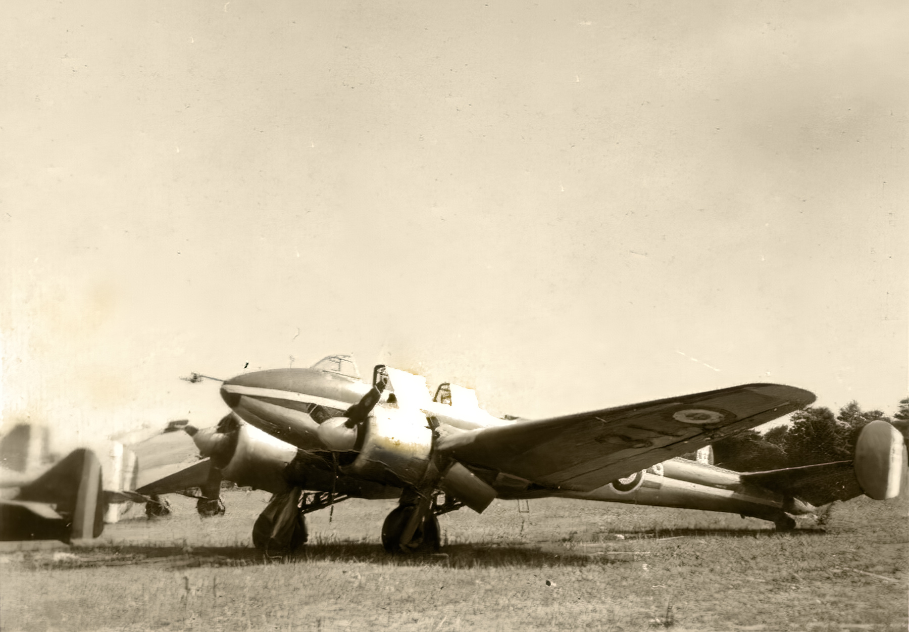 French Airforce Potez 630 sits abandoned after the fall of France June 1940 ebay 02