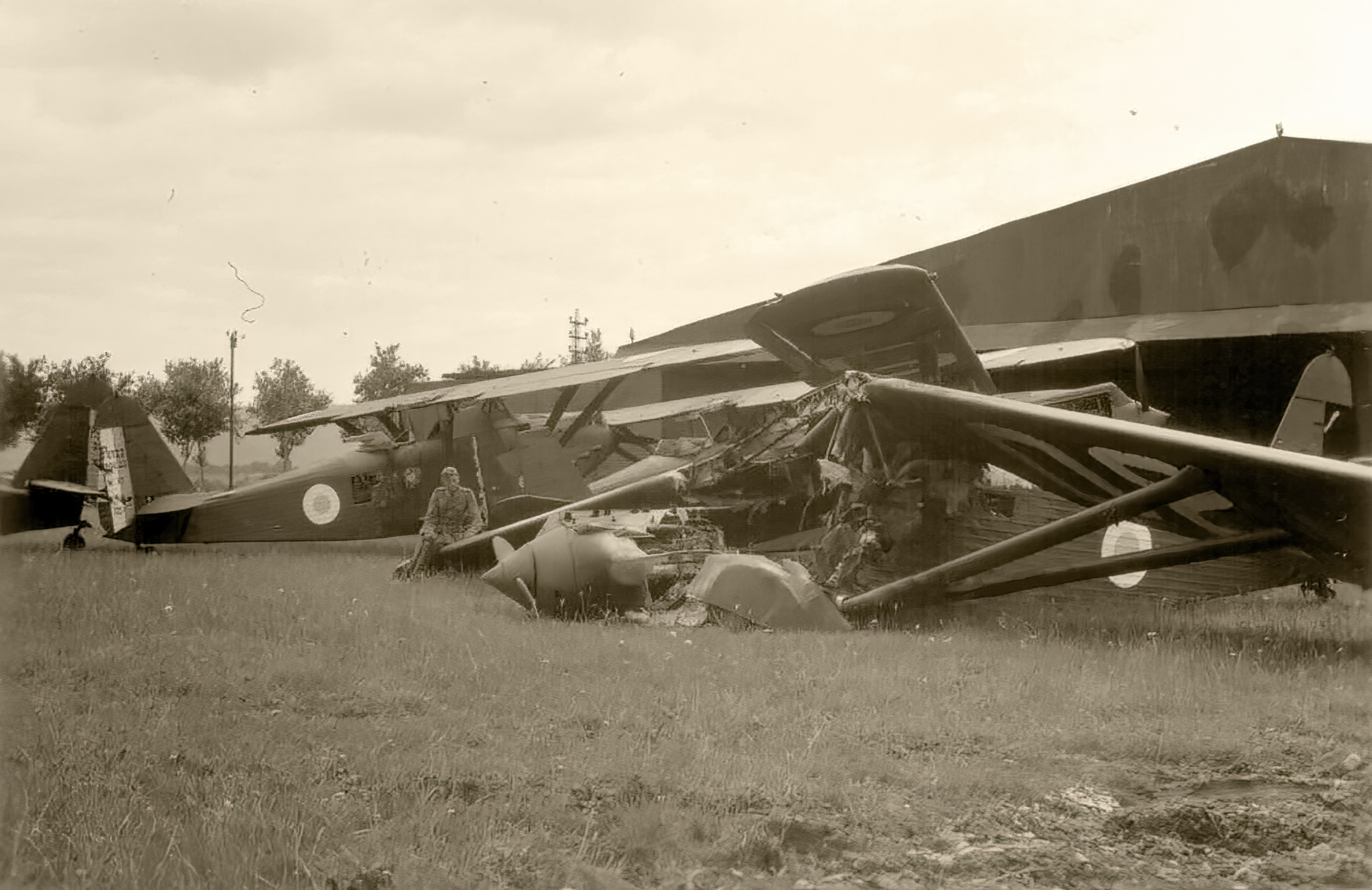 French Airforce Potez Po.390A2 captured at a French airbase battle of France 1940 01