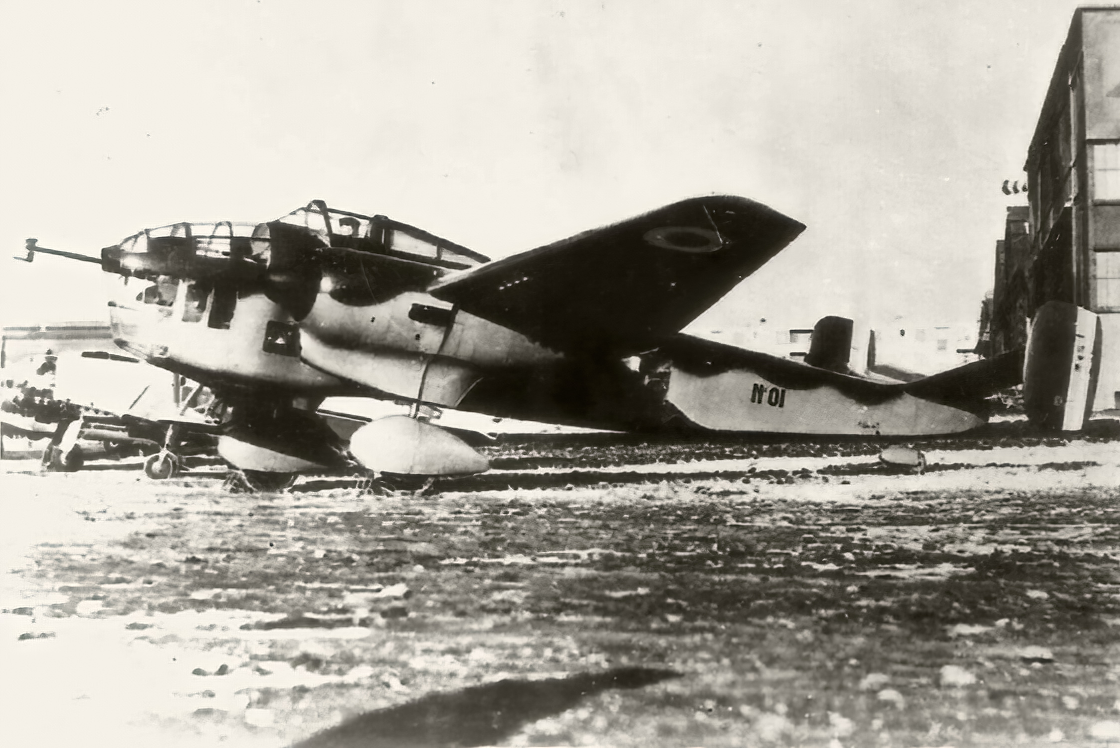 French Airforce SNCAC Hanriot NC.530 prototype No01 dispersal area Phoney War France 1939 ebay 01