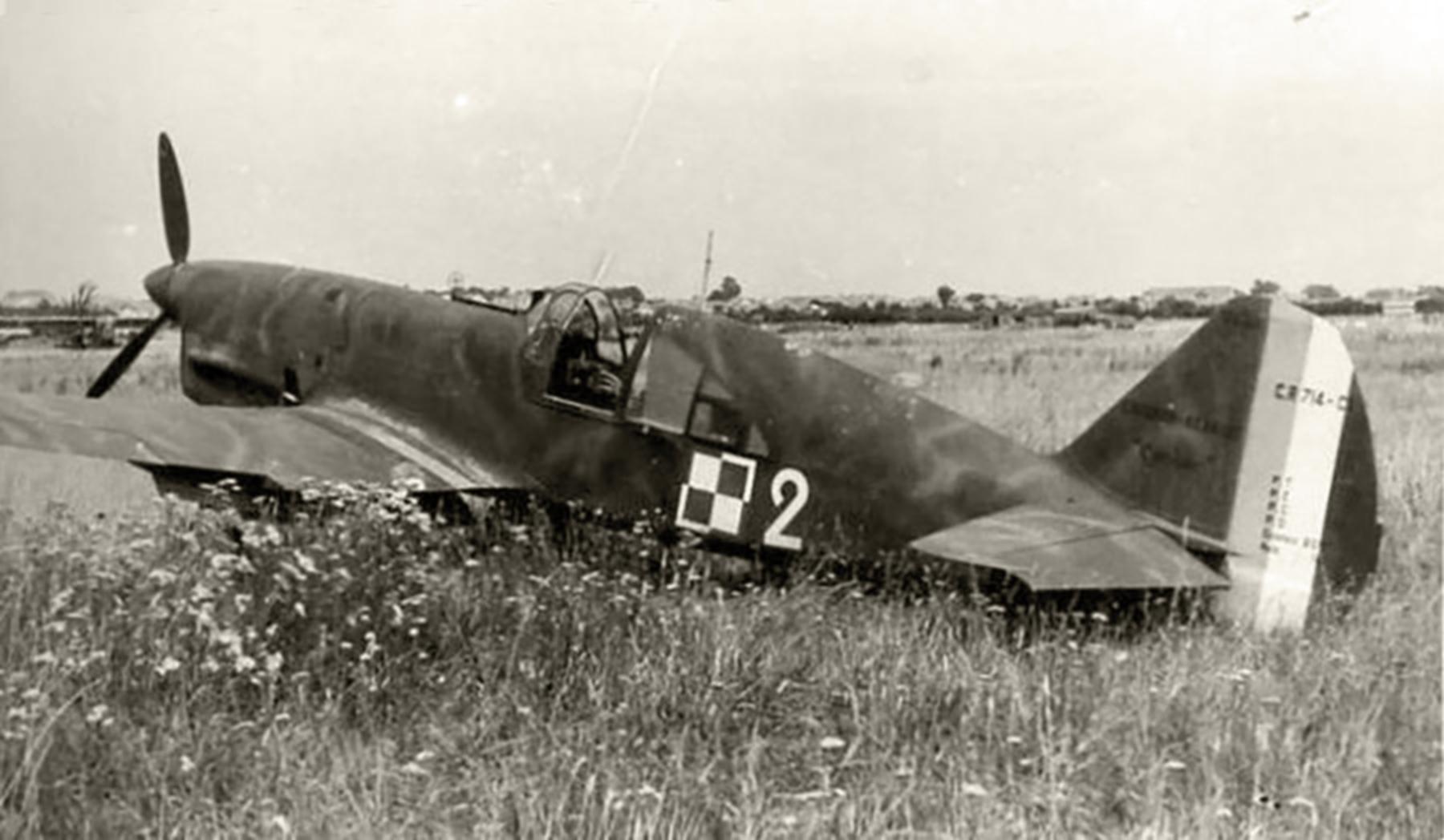 French Caudron CR 714C1 Cyclone White 2 Polish AF France 1940 web 01