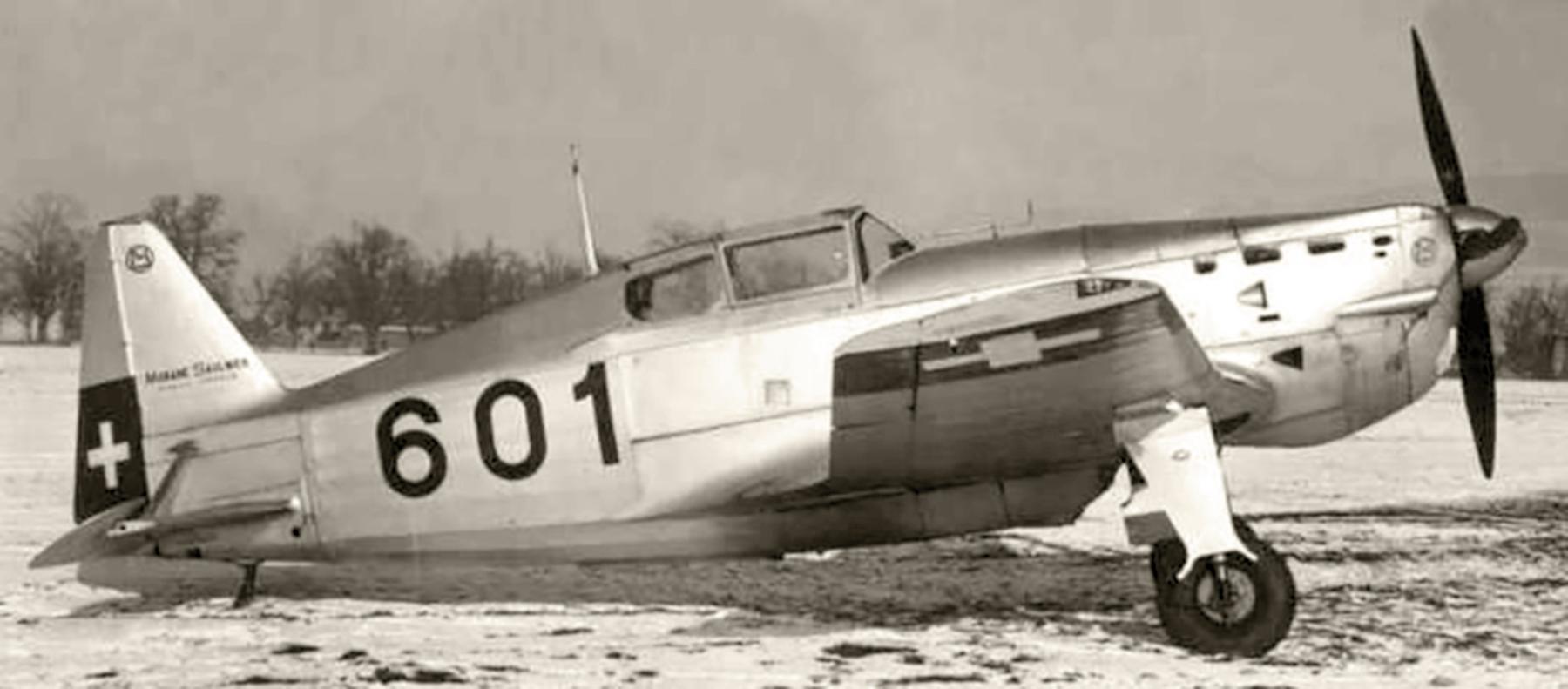 French built Morane Saulnier MS 406 Black 601 Swiss AF web 01