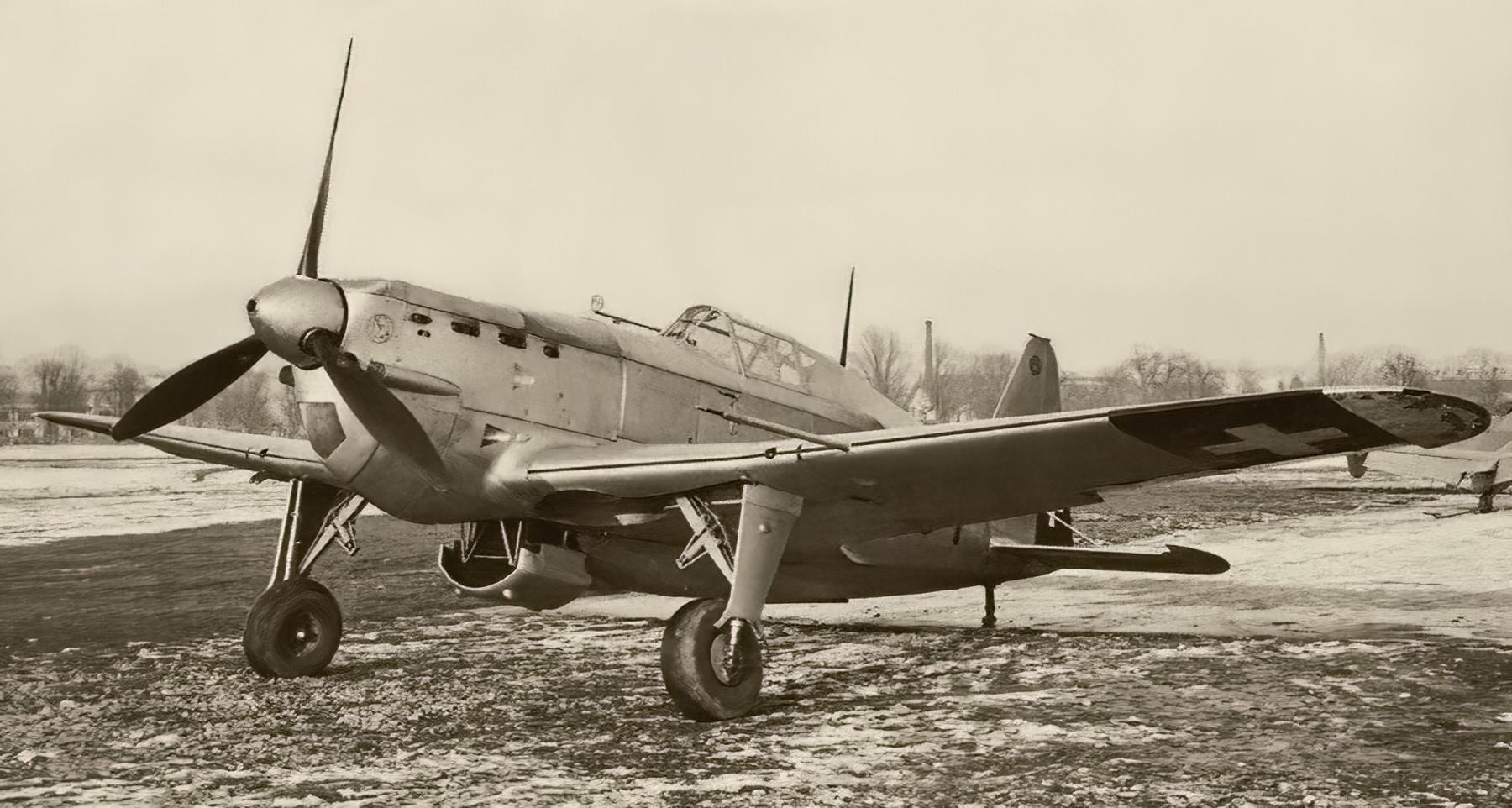 French built Morane Saulnier MS 406 Black 601 Swiss AF web 02