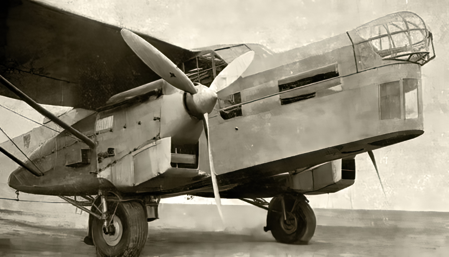 French built Potez 54 prototype fitted with 2 Hispano Suiza 650HP engines 1933 ebay 01