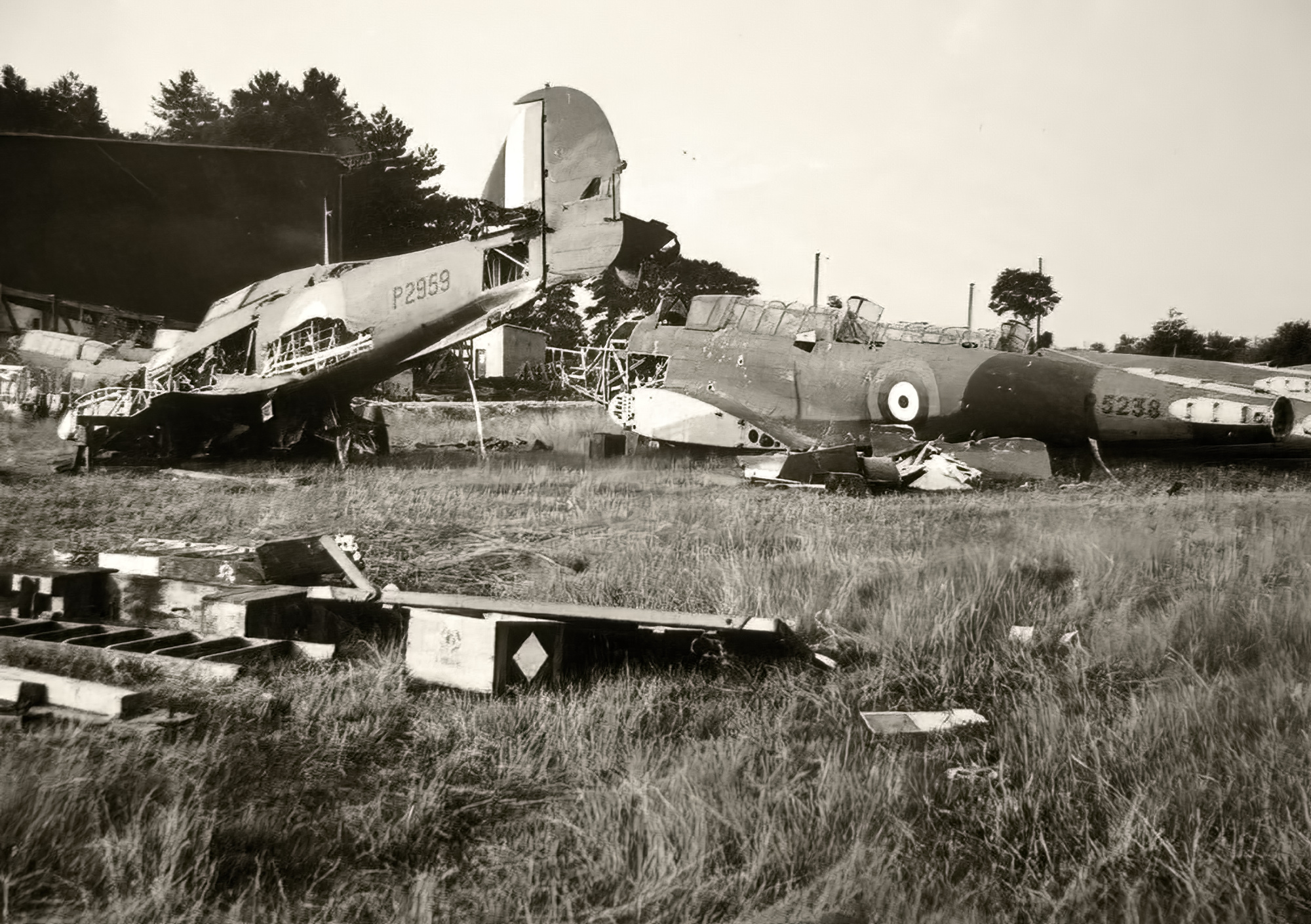 RAF Hurricane P2959 and Fairey Battle P5238 lost during battle of France 1940 ebay 01