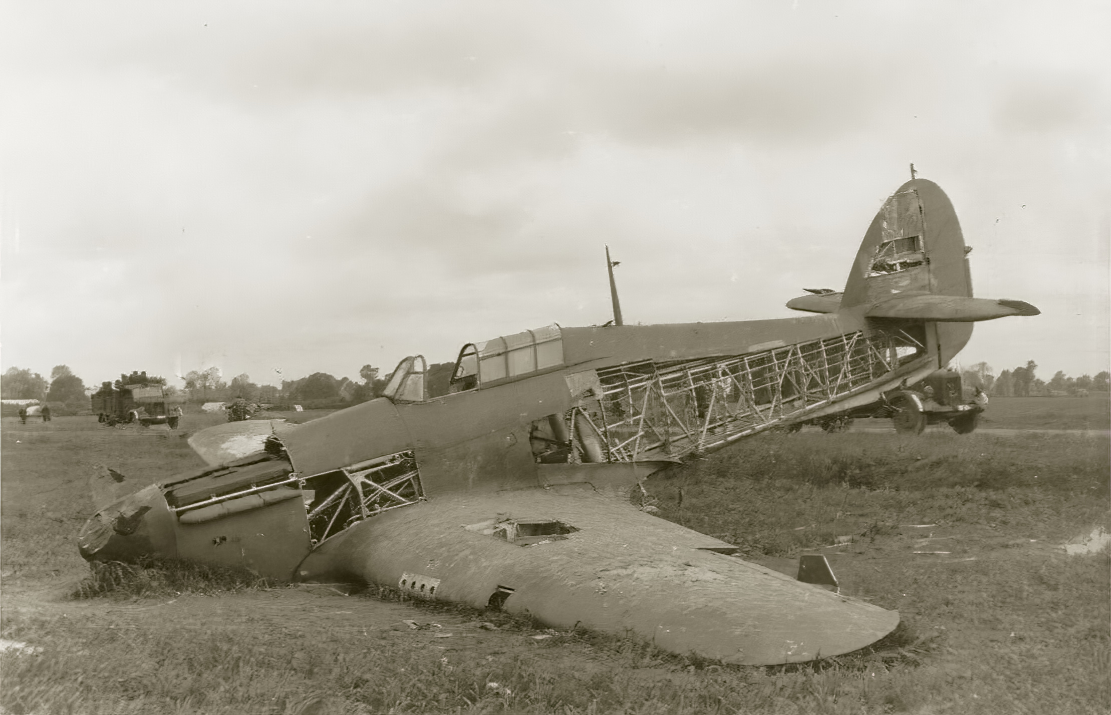 RAF Hurricane force landed stripped by souvenir hunters battle of France May 1940 ebay 01