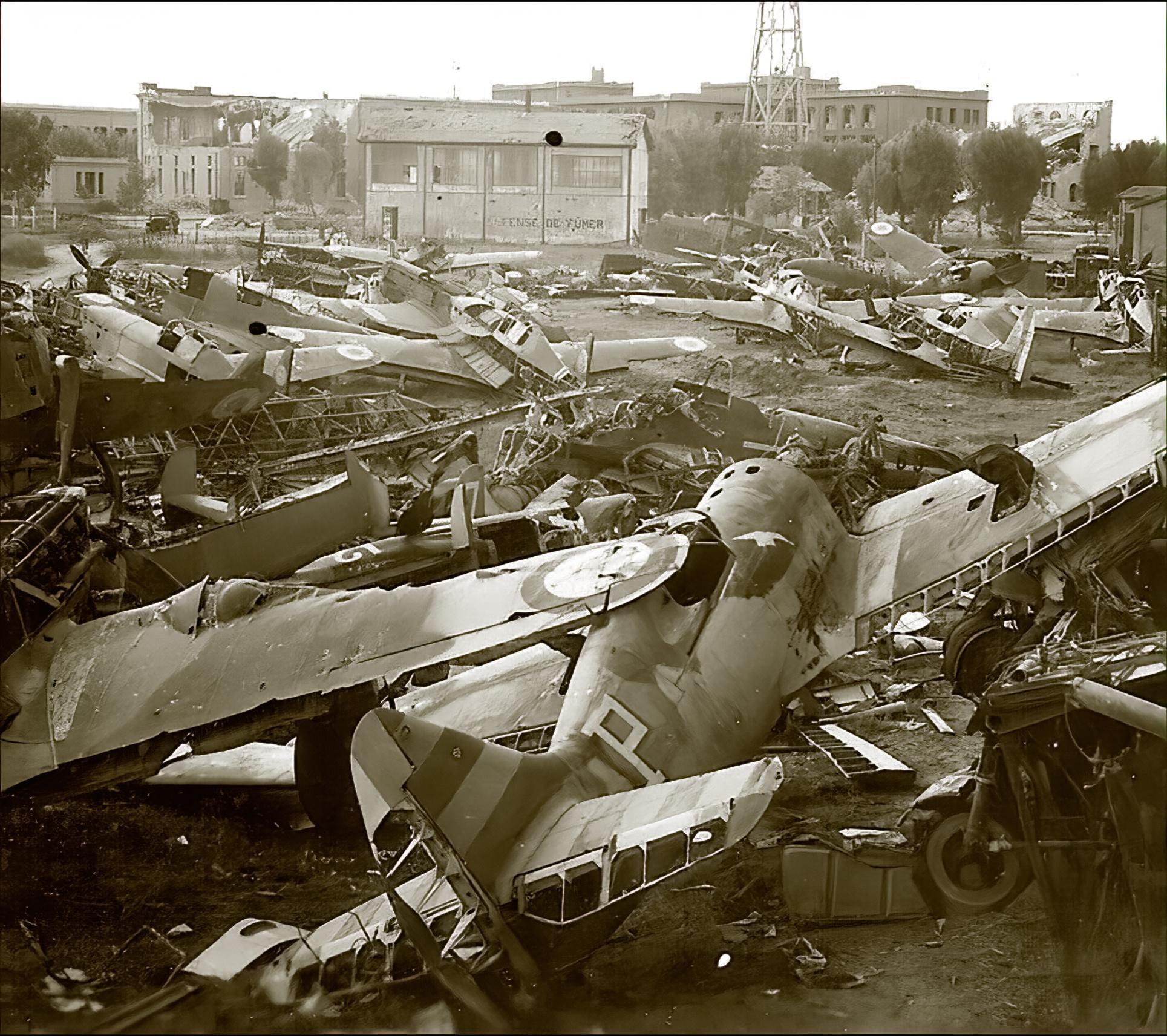 Vichy French scrap yard with several abandoned Morane Saulnier MS 406s ebay 01
