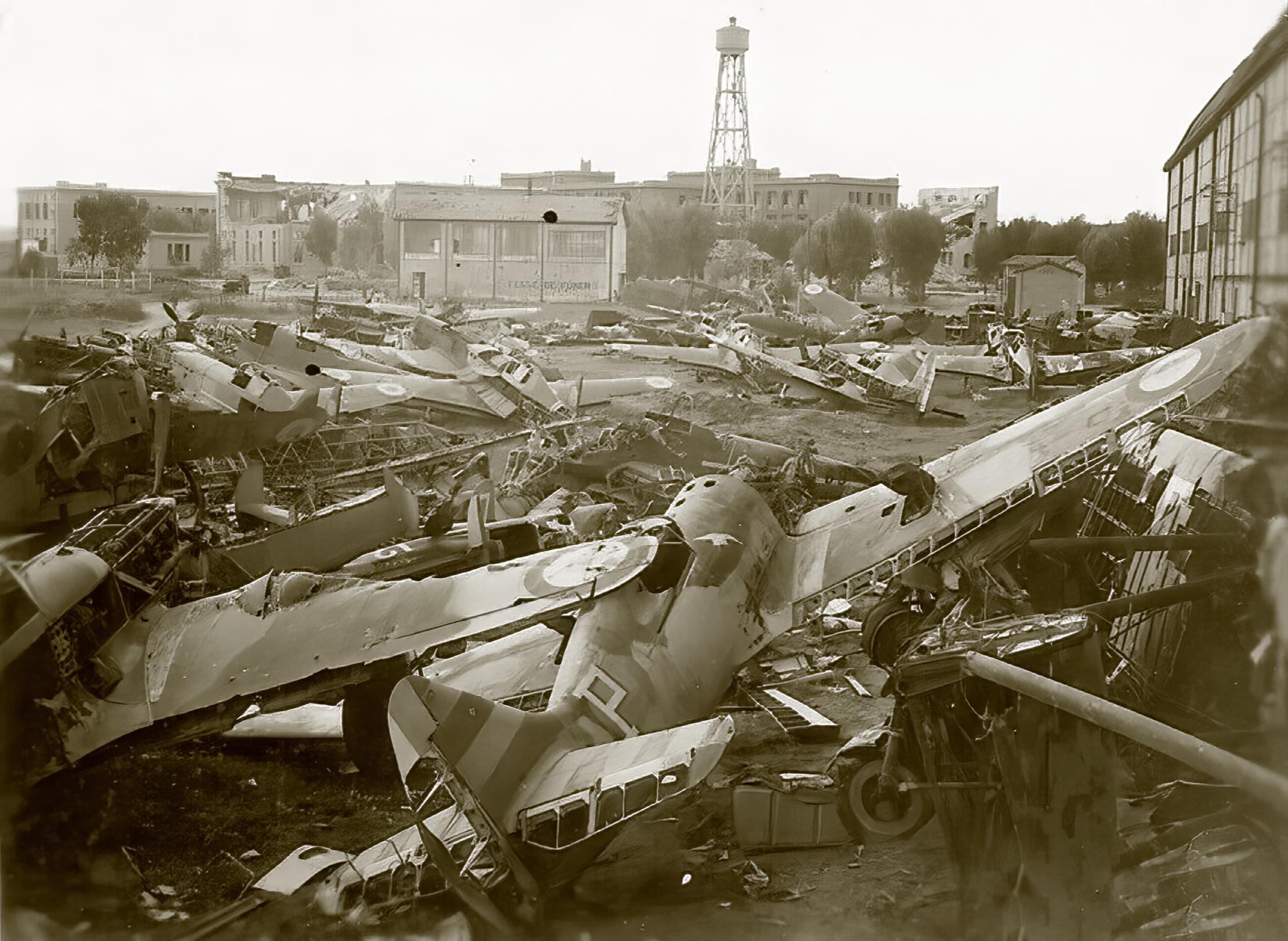 Vichy French scrap yard with several abandoned Morane Saulnier MS 406s ebay 02