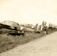 Asisbiz French Airforce Breguet Bre 690 a row of abandoned aircraft sit after the fall of France June 1940 01