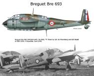 Asisbiz French Airforce Breguet Bre 693 sn1013 GBA II.54 France Jun 1940 profile 0A