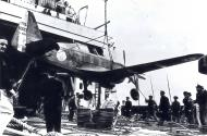 Asisbiz French Airforce Morane Saulnier MS 406C sn801 being loaded abaord a French Navy ship ebay 01