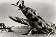 Asisbiz French Airforce Morane Saulnier MS 406C1 sn851 White 2 landing mishap France May Jun 1940 ebay 01