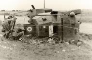 Asisbiz French Army AMD 38 Panhard P178 Armored Car snMI10402 captured after overturning BOF Jun 1940 01