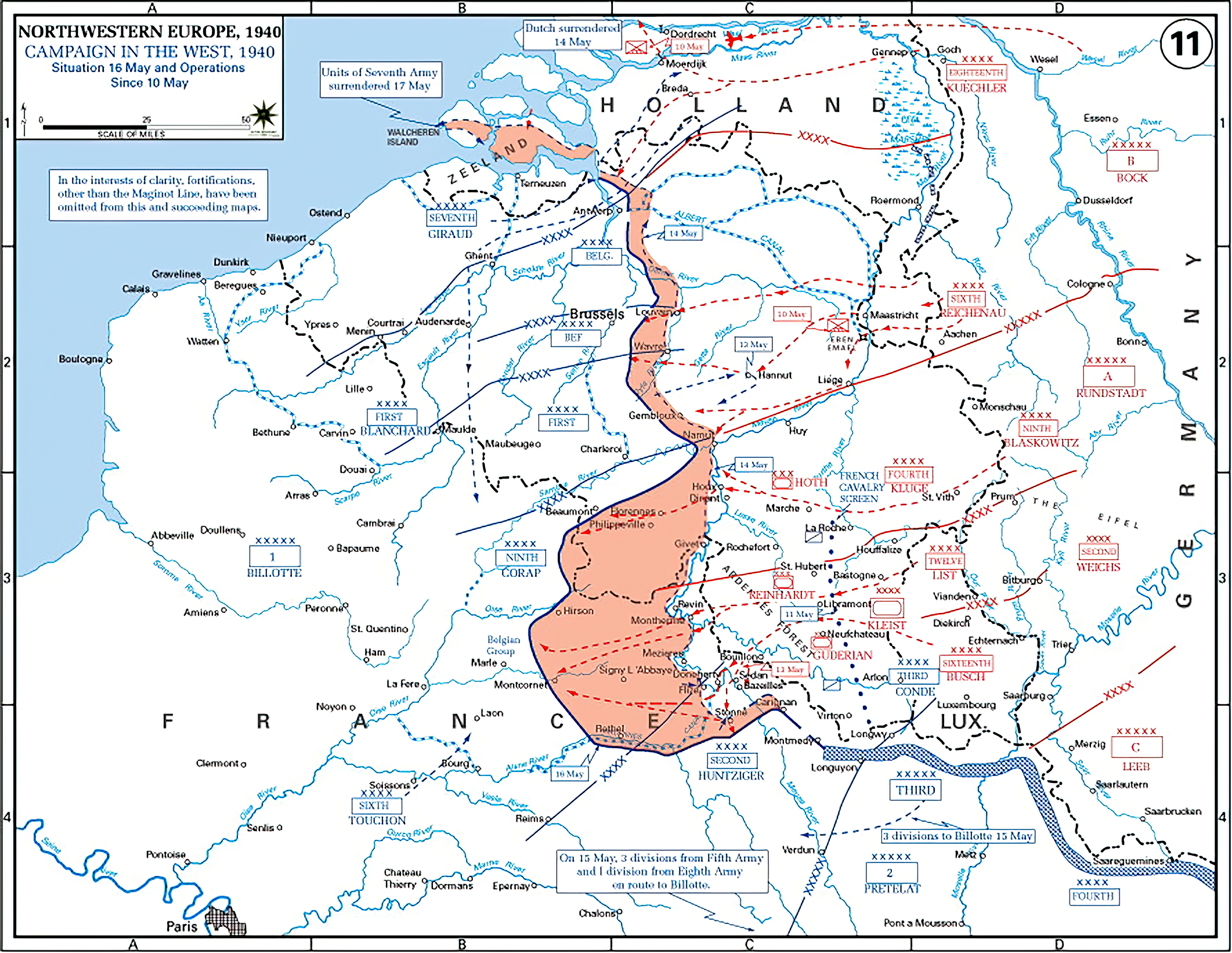 A map showing German advance until noon 16th May 1940 wiki 0A