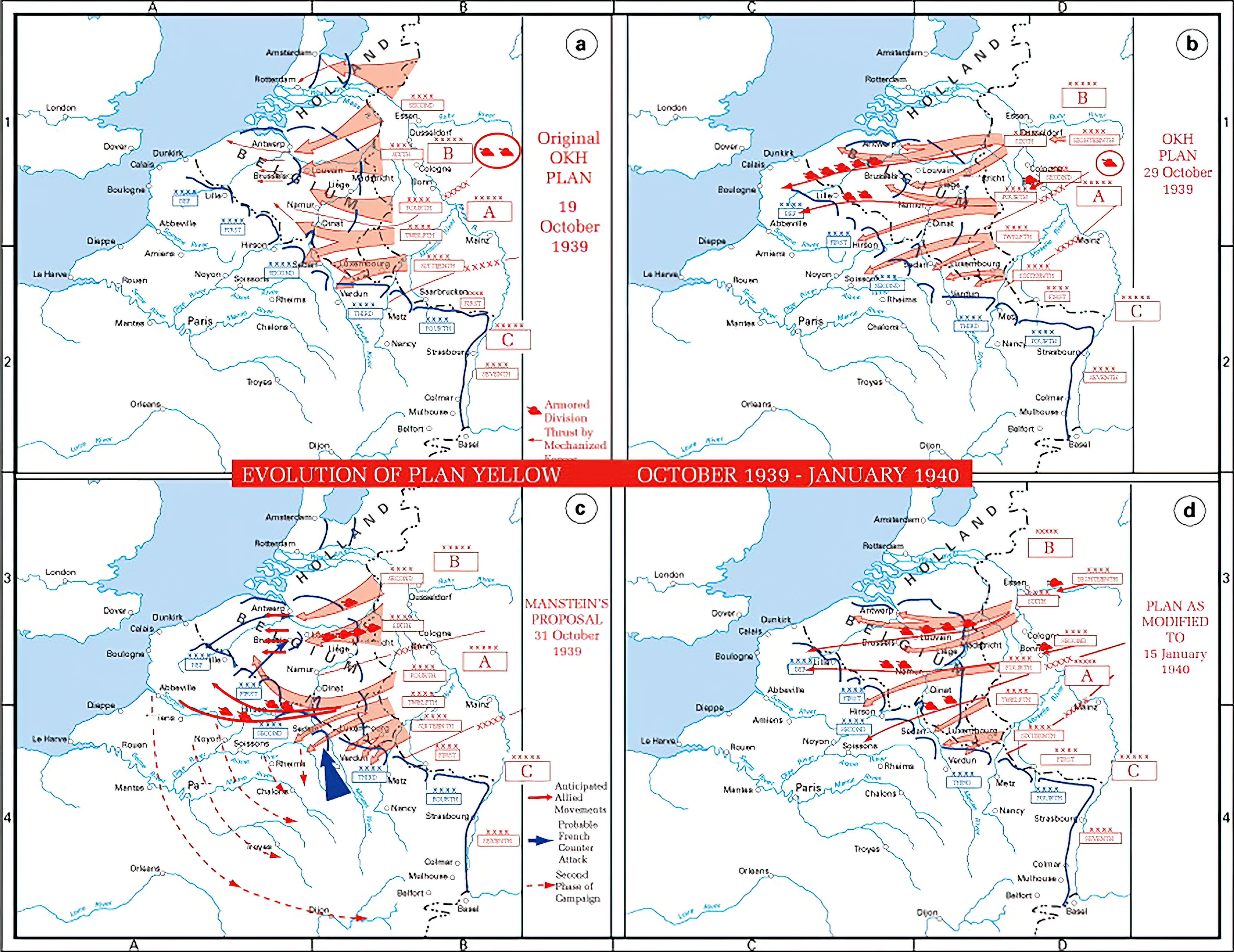 A map shows evolution of German plans for Fall Gelb the invasion of the Low Countries wiki 0A