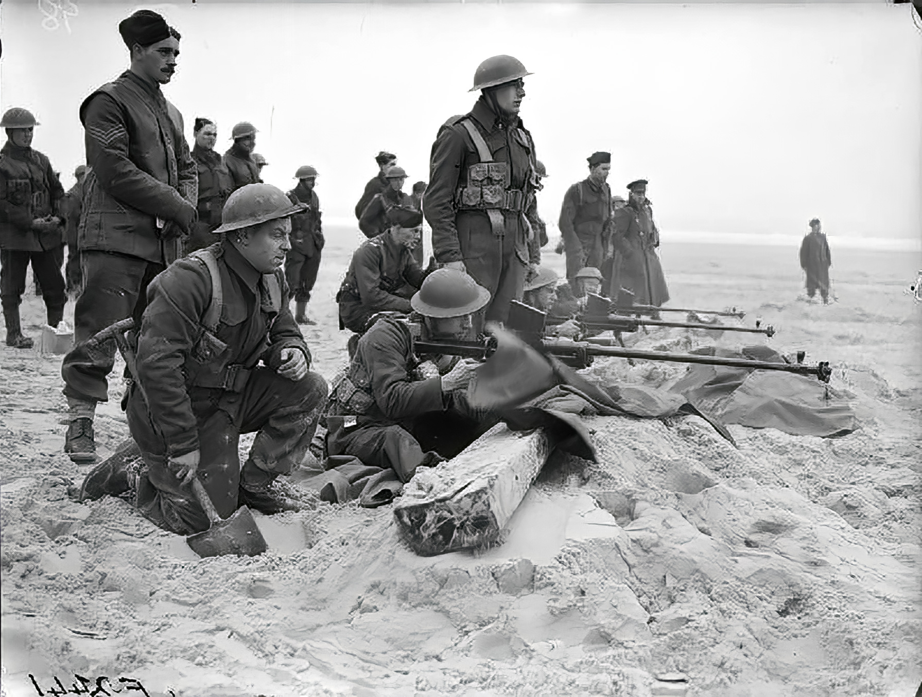 BEF 1st Royal Welch Fusiliers fire Boys anti tank rifles near Etaples Feb 1940 wiki 01