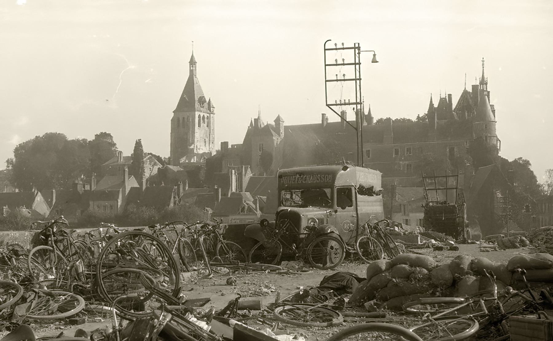 Devastation of Macon by the Luftwaffe during the battle of France 1940 ebay 01