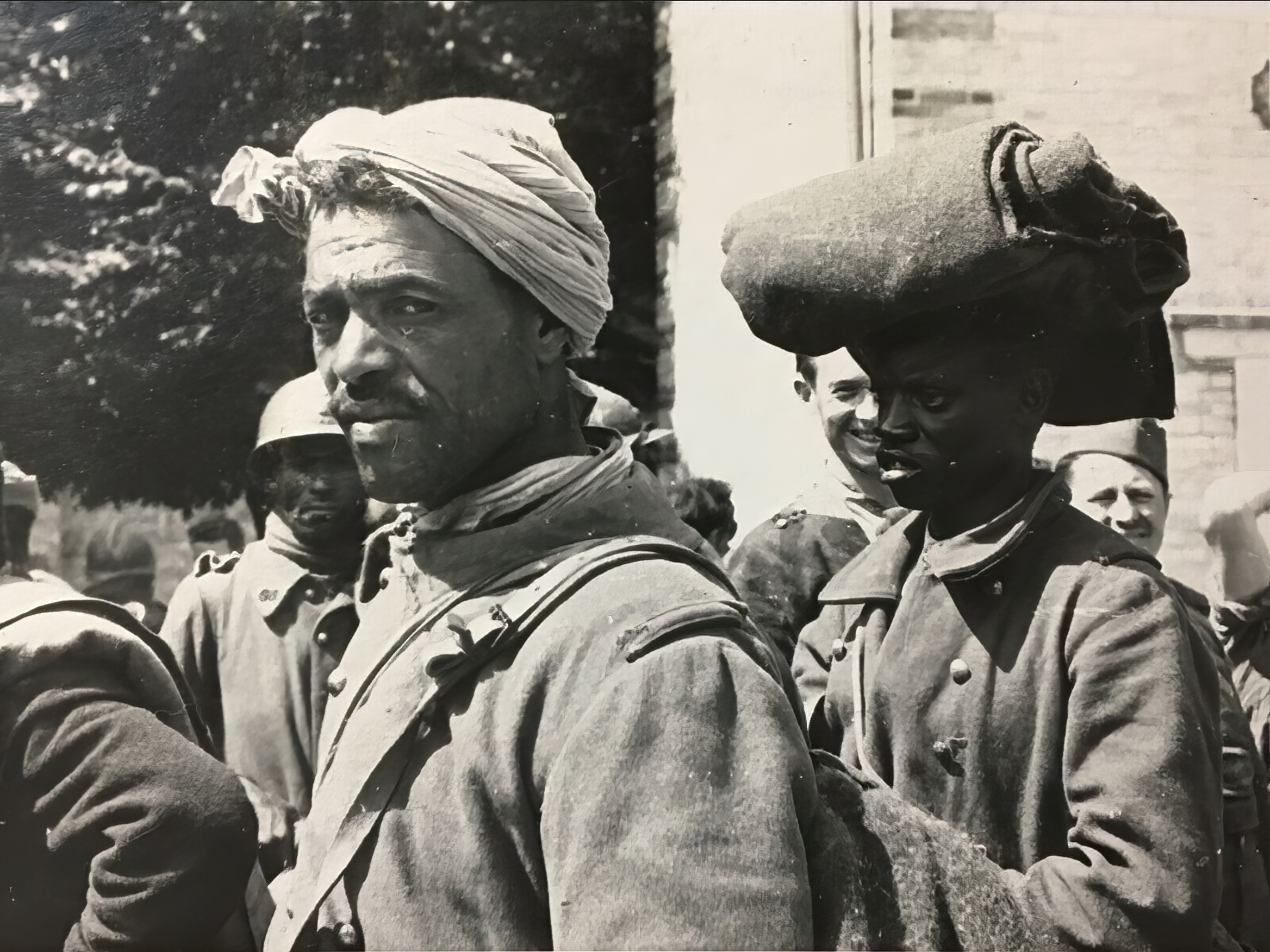 French Algerian POWs from LnAbt(H) mot 7 Algeria being interned after Frances capitulation 25th June 1940 ebay 02
