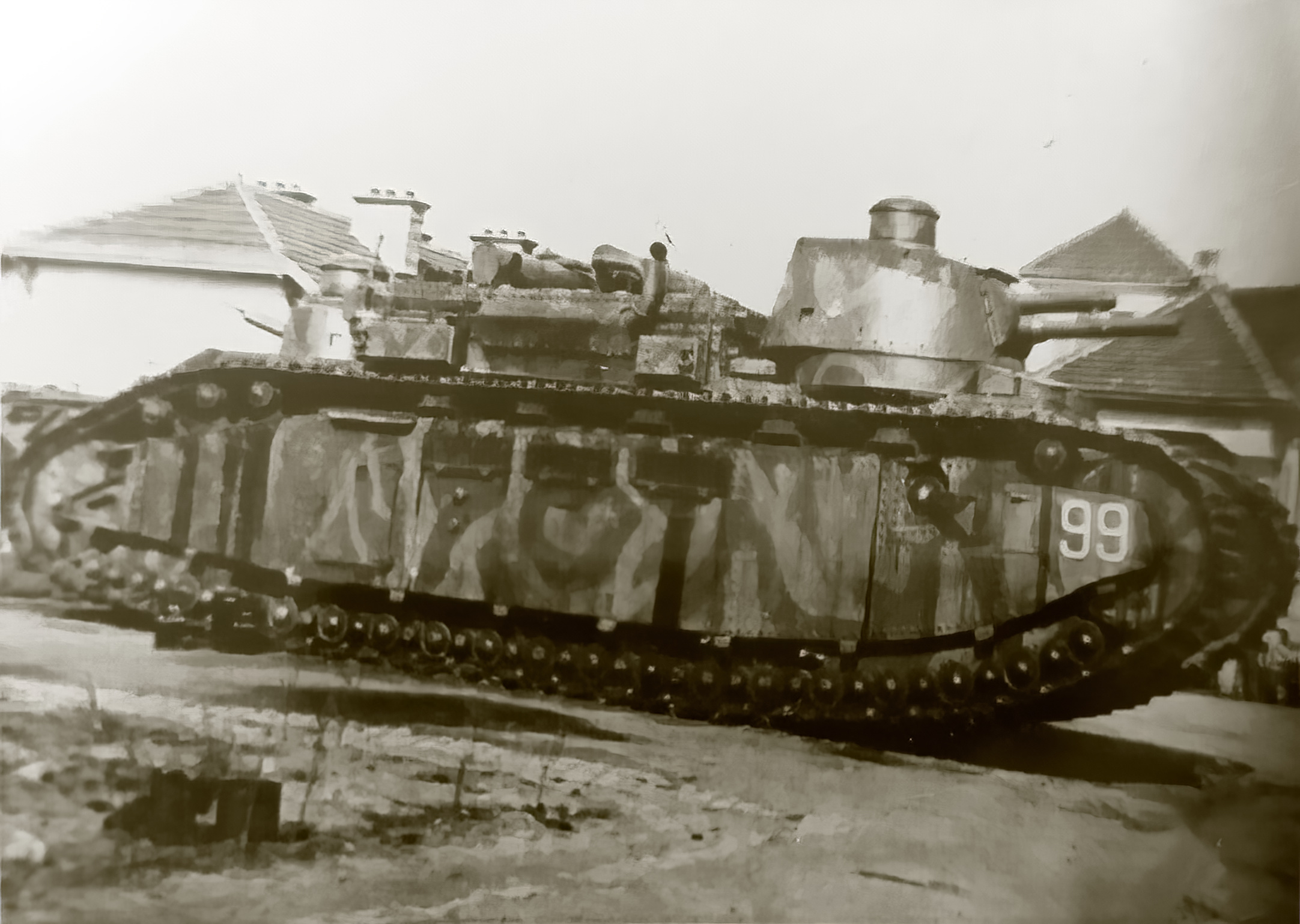 French Army Char 2C or FCM 2C heavy tank destroyed during battle of France 1940 ebay 02