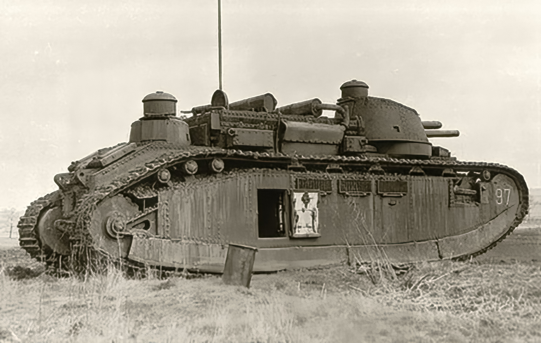 French Army Char 2C or FCM 2C was a heavy tank used during battle of France 1940 ebay 01