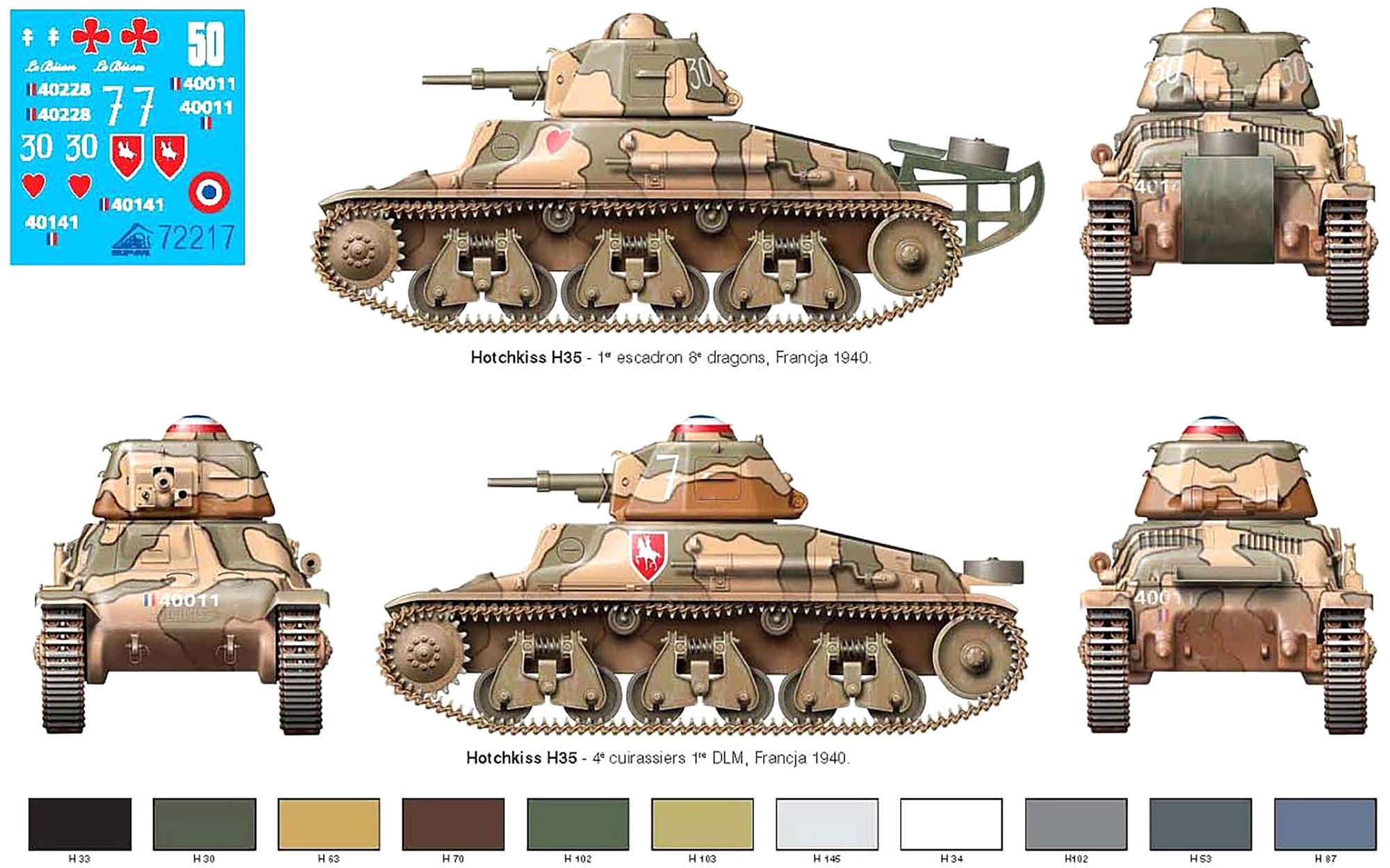 French Army Hotchkiss H35 profile during battle of France 1940 web 0B