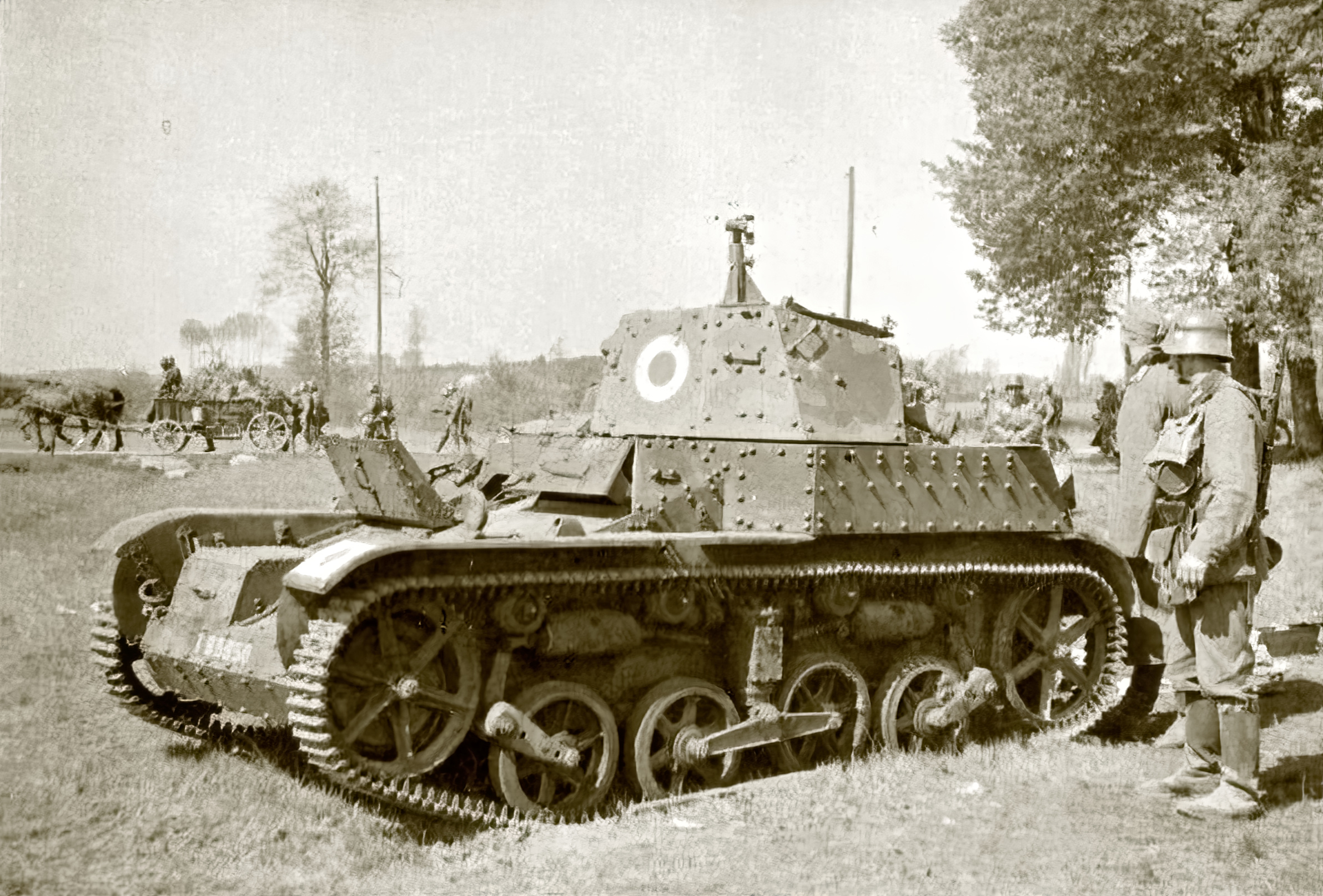 French Army Renault Char AMR 33 abandoned after the battle of France June 1940 ebay 01