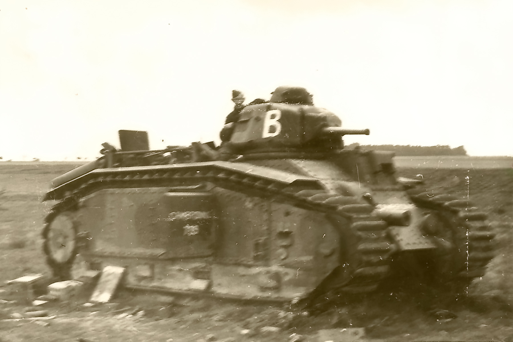 French Army Renault Char B1 White B abandoned during the battle of France 1940 ebay 01