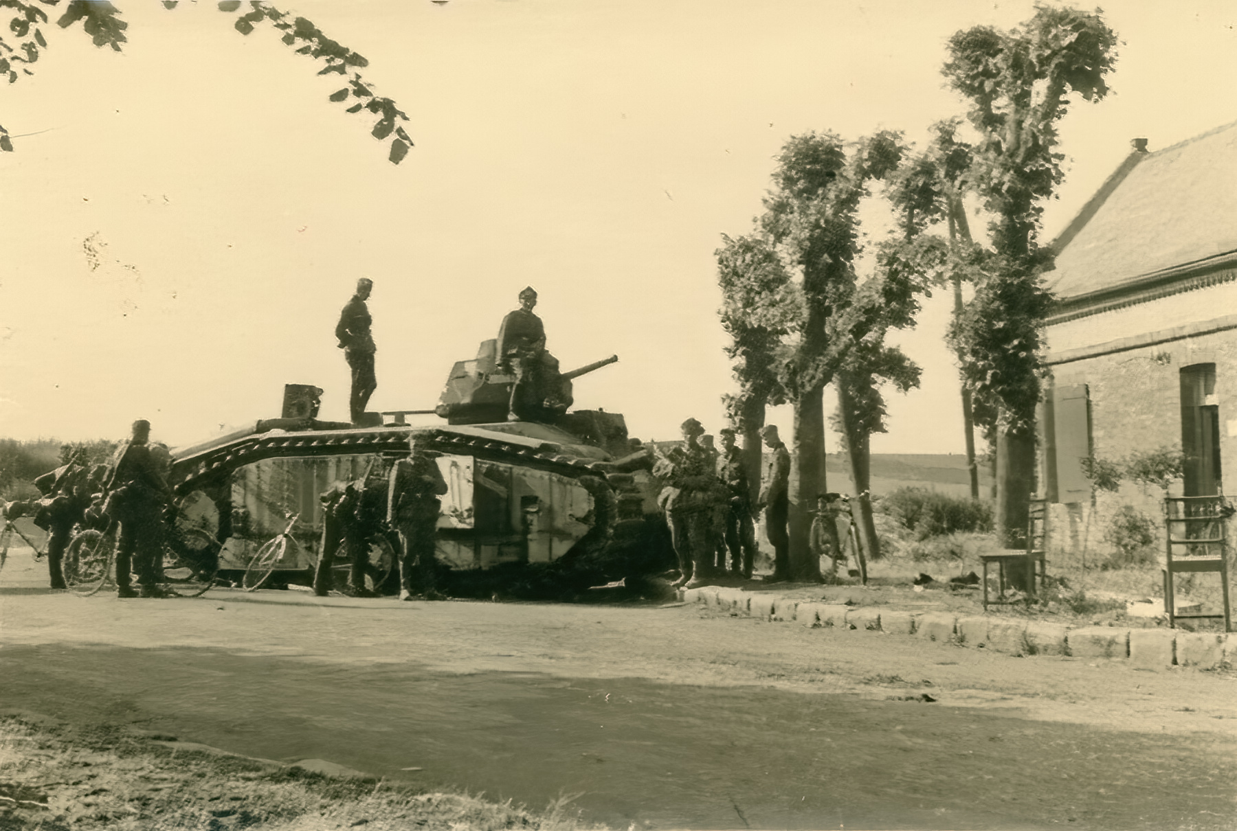 French Army Renault Char B1 abandoned during the battle of France 1940 ebay 01